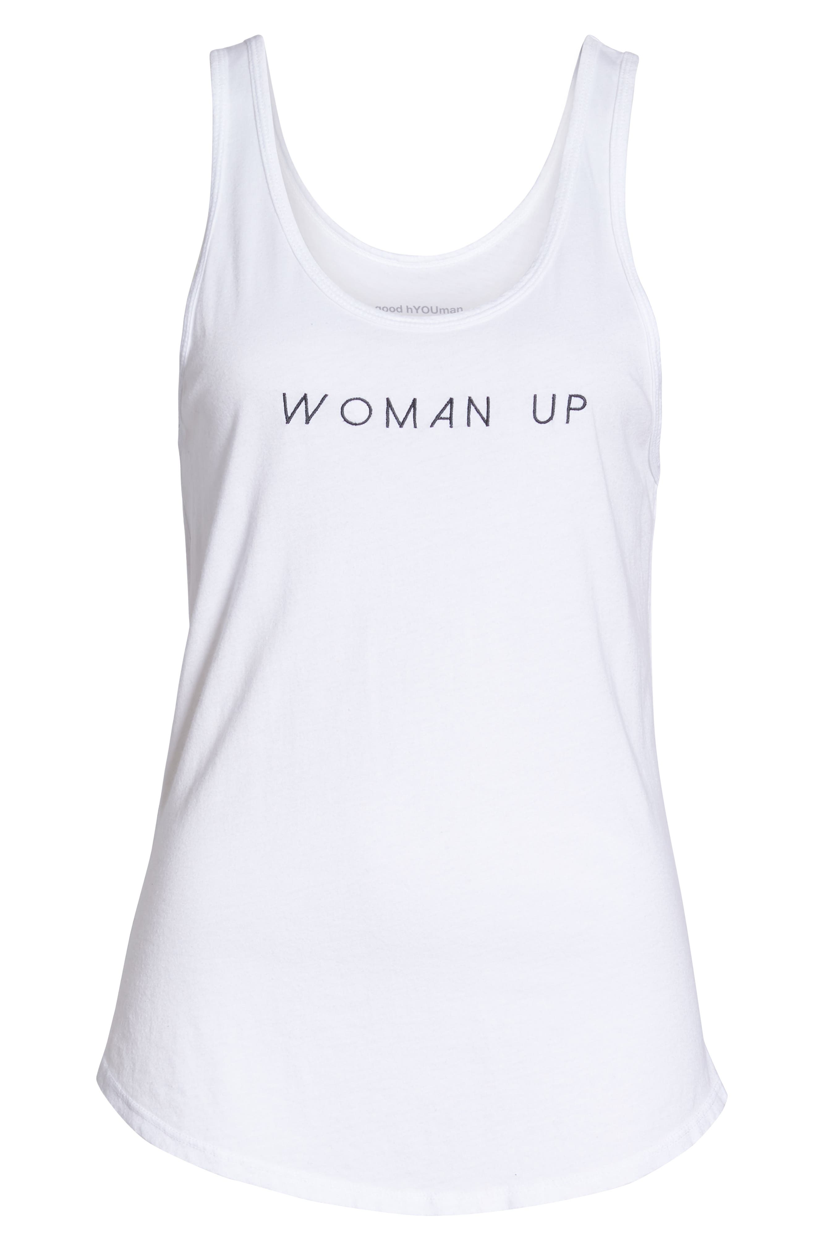 Woman Up Tank,                             Alternate thumbnail 7, color,                             OPTIC WHITE