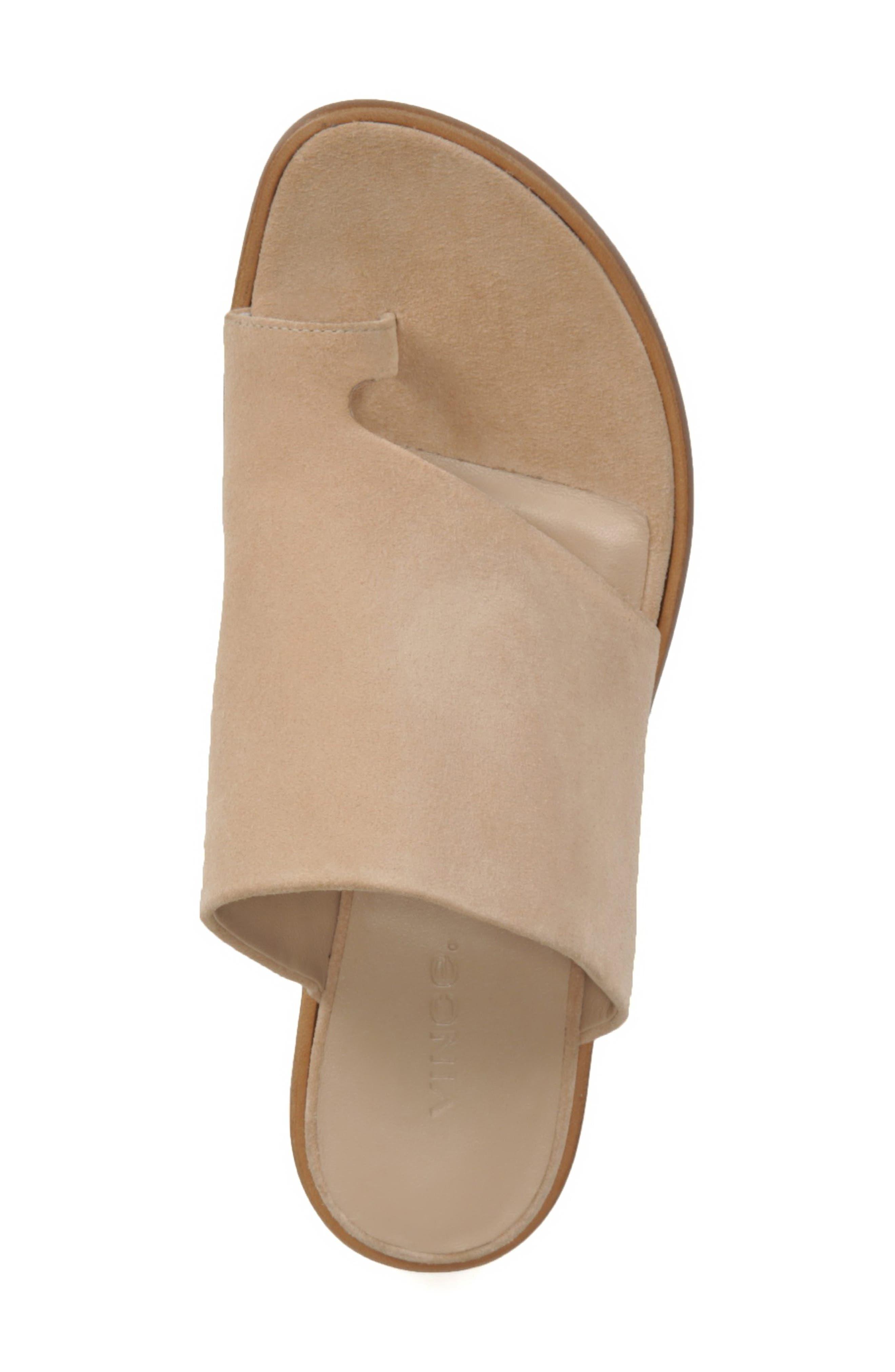 Edris Toe Loop Sandal,                             Alternate thumbnail 5, color,                             SAND