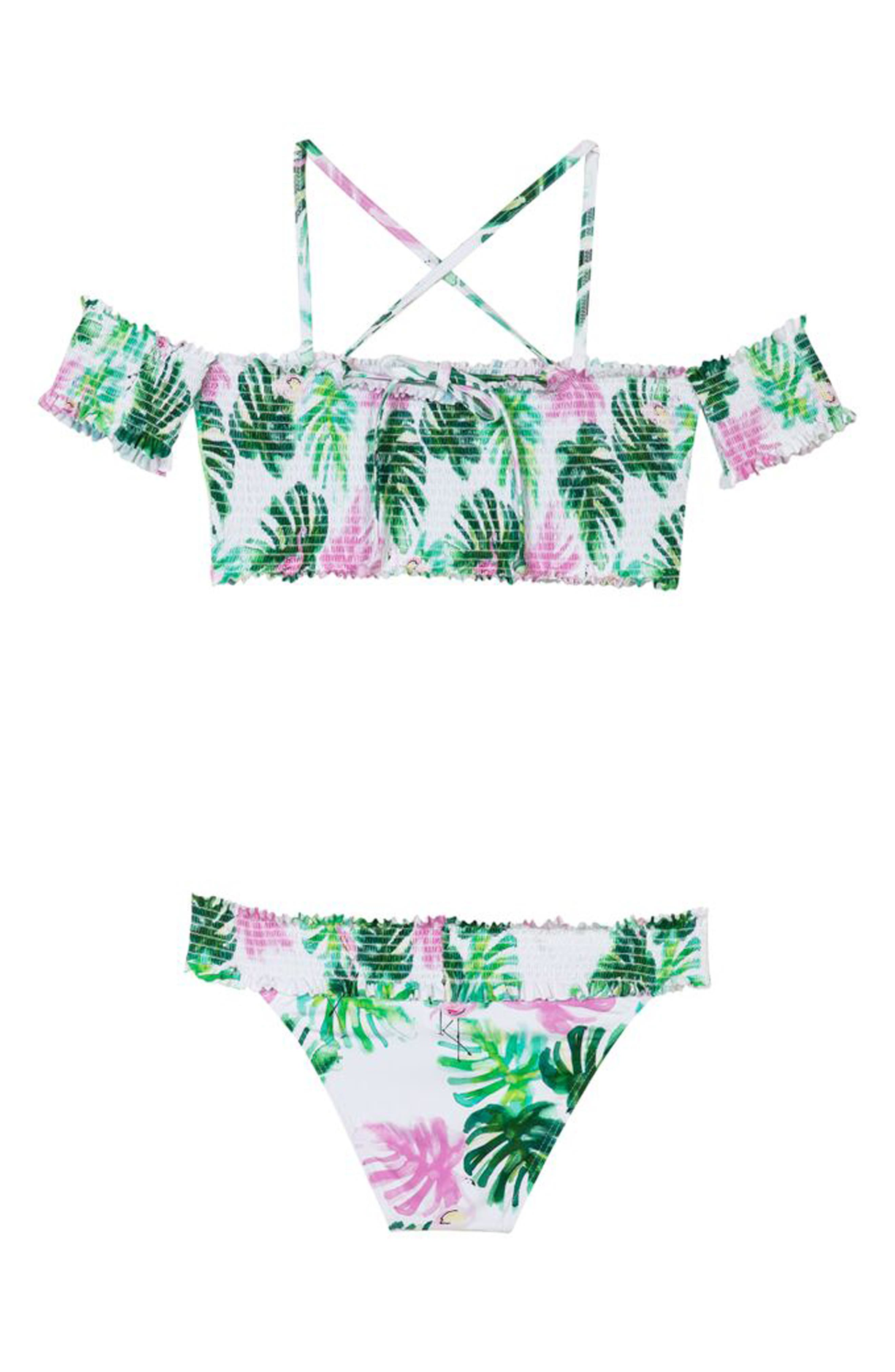 Smocked Two-Piece Swimsuit,                             Alternate thumbnail 2, color,                             MINGOS