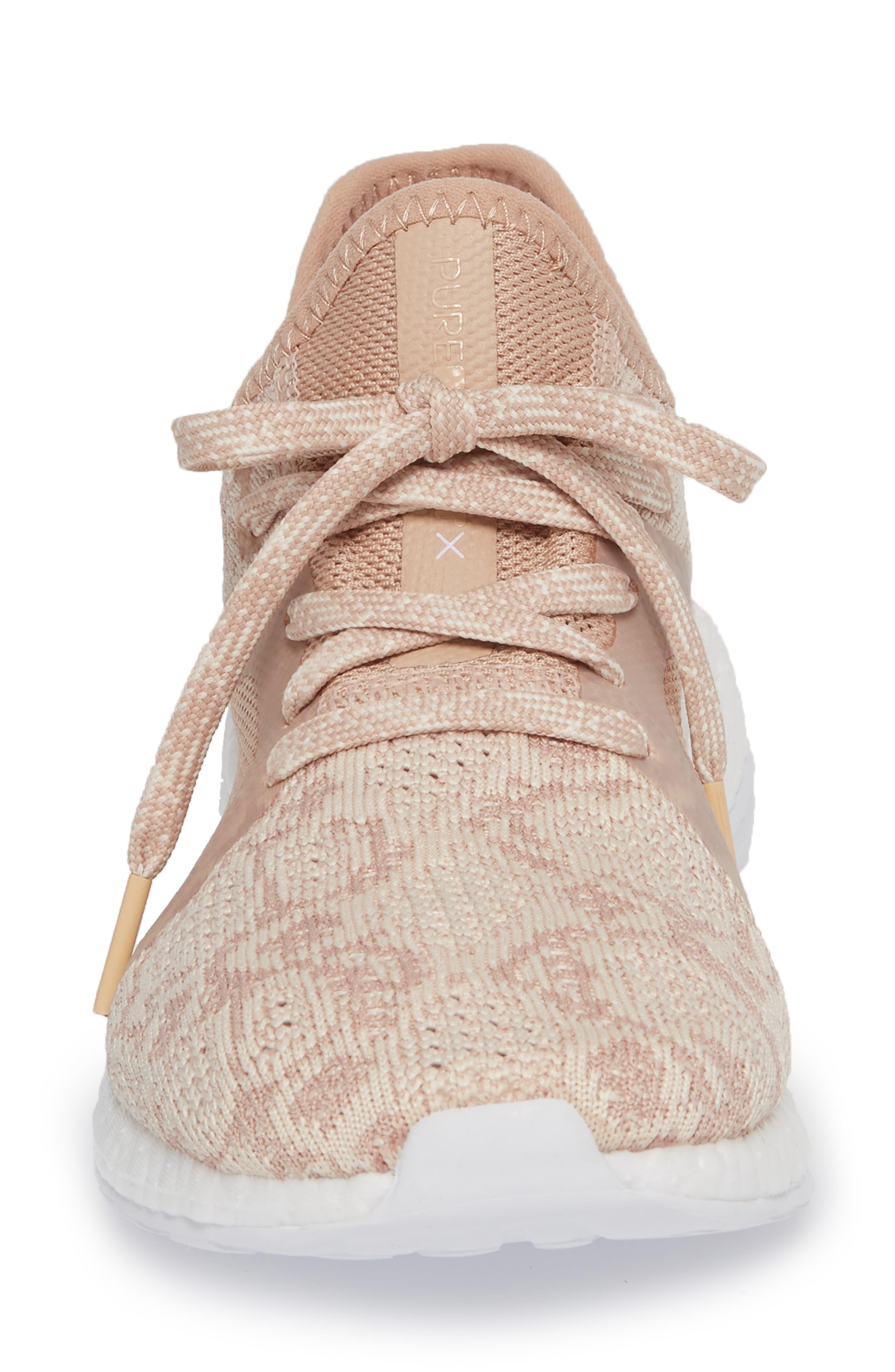 PureBoost X Element Knit Running Shoe,                             Alternate thumbnail 4, color,                             ASH PEARL/ ASH PEARL
