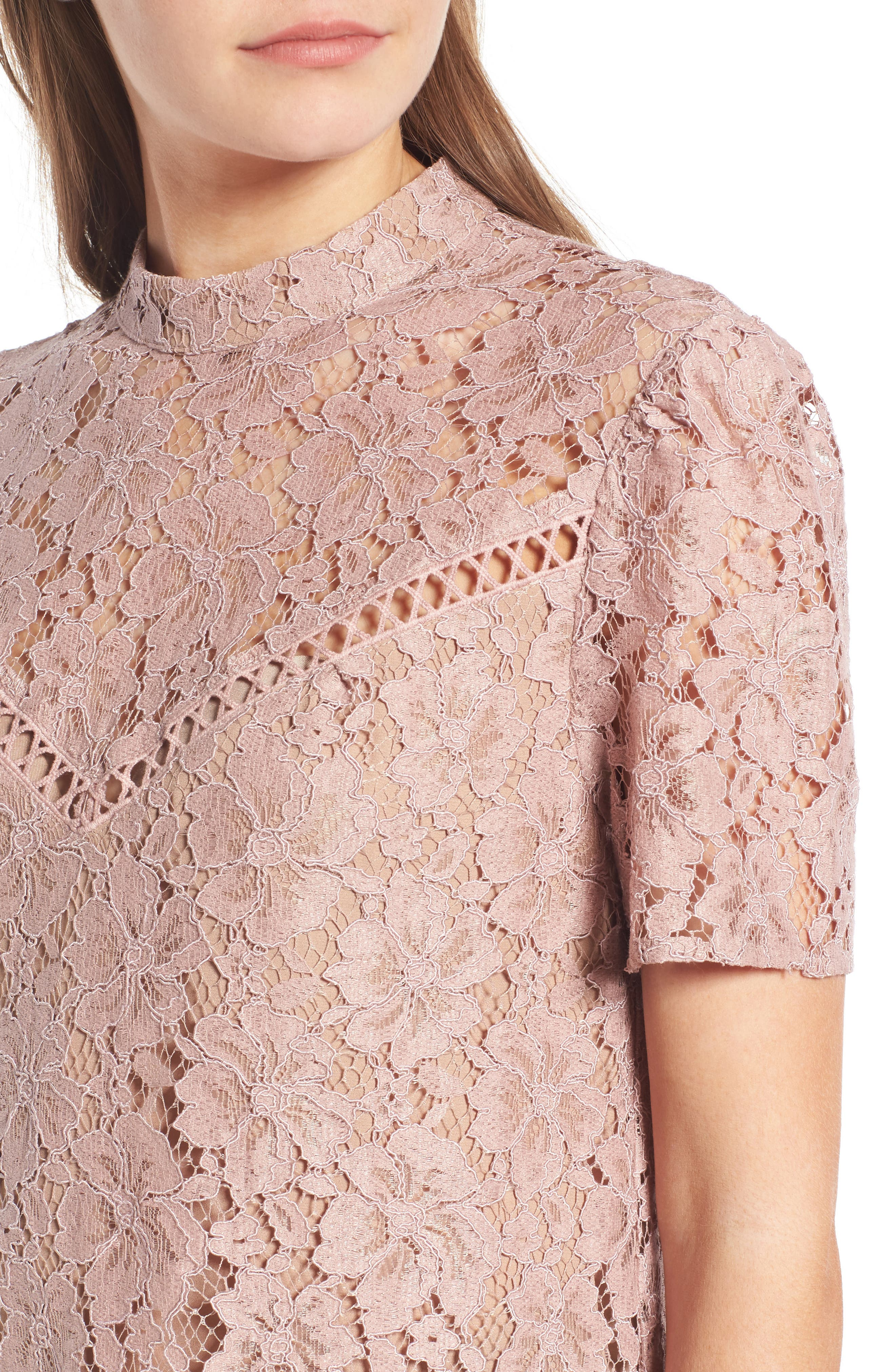 Greyson Lace Top,                             Alternate thumbnail 4, color,                             650
