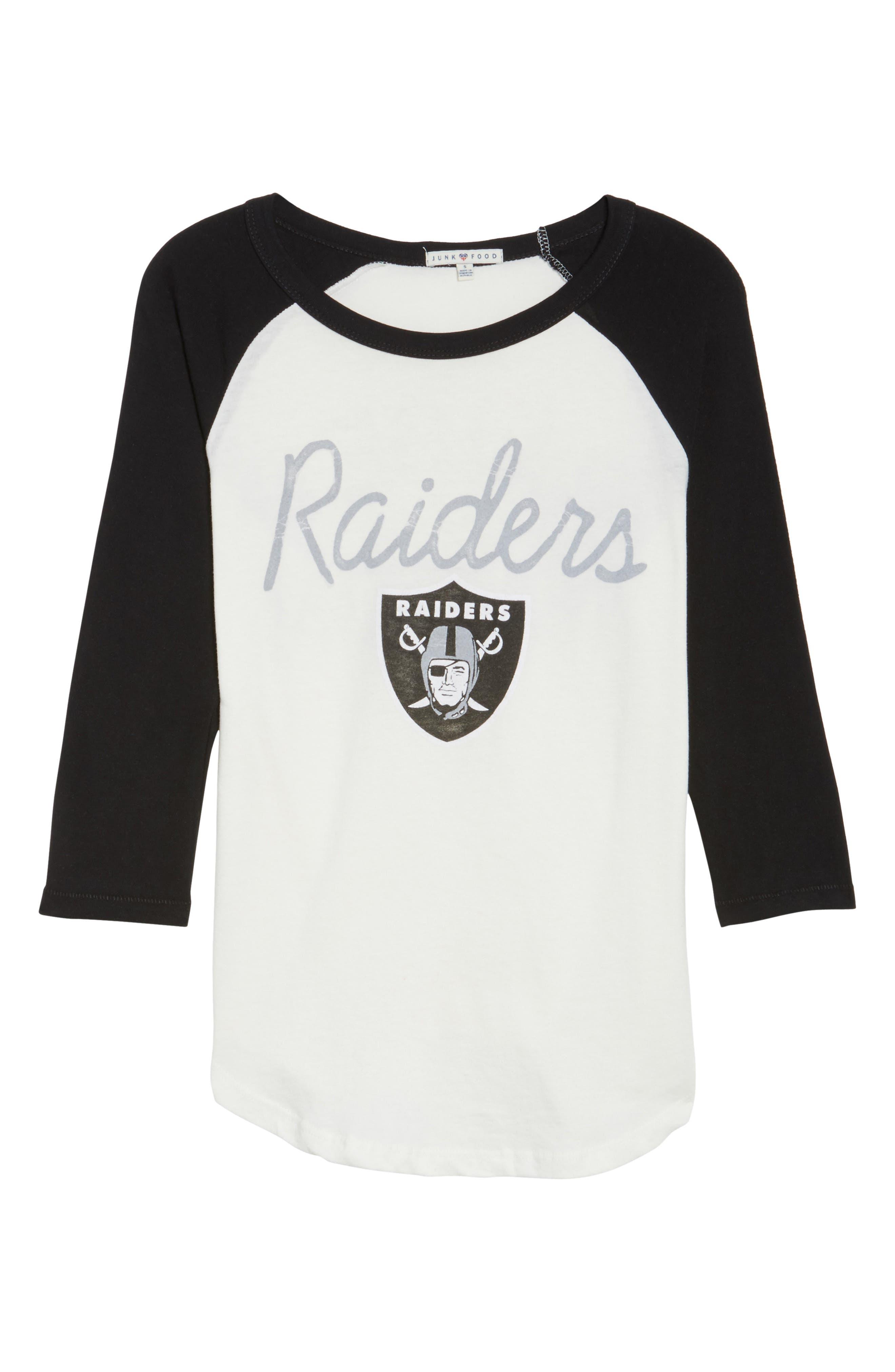 NFL Oakland Raiders Raglan Tee,                             Alternate thumbnail 6, color,                             189