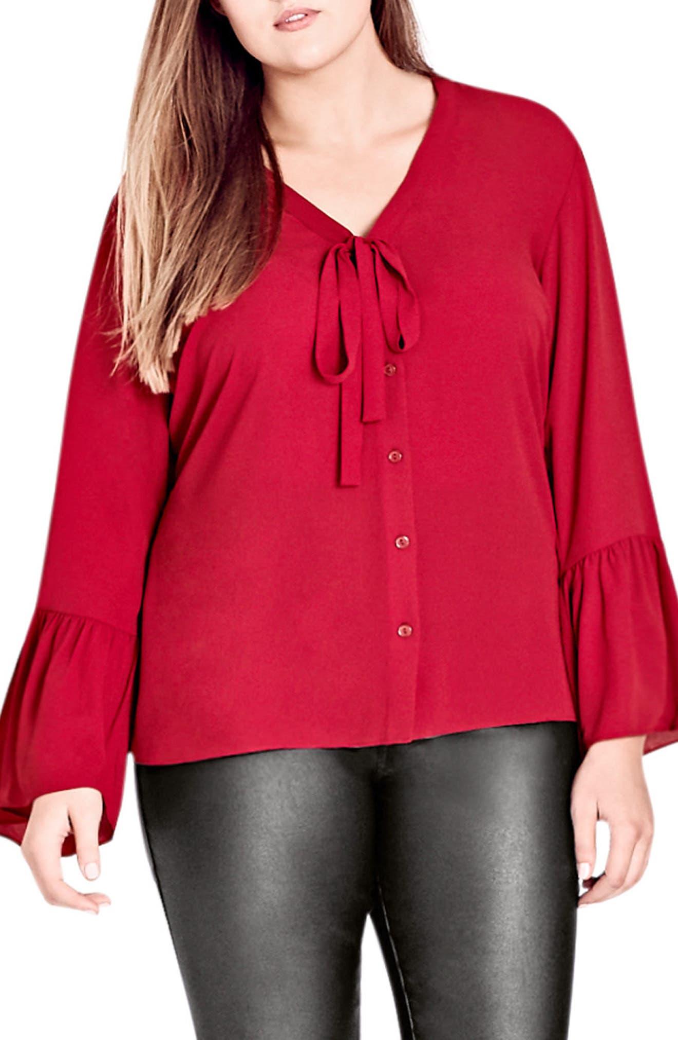 Office Fling Shirt,                             Main thumbnail 1, color,                             RED ROSE