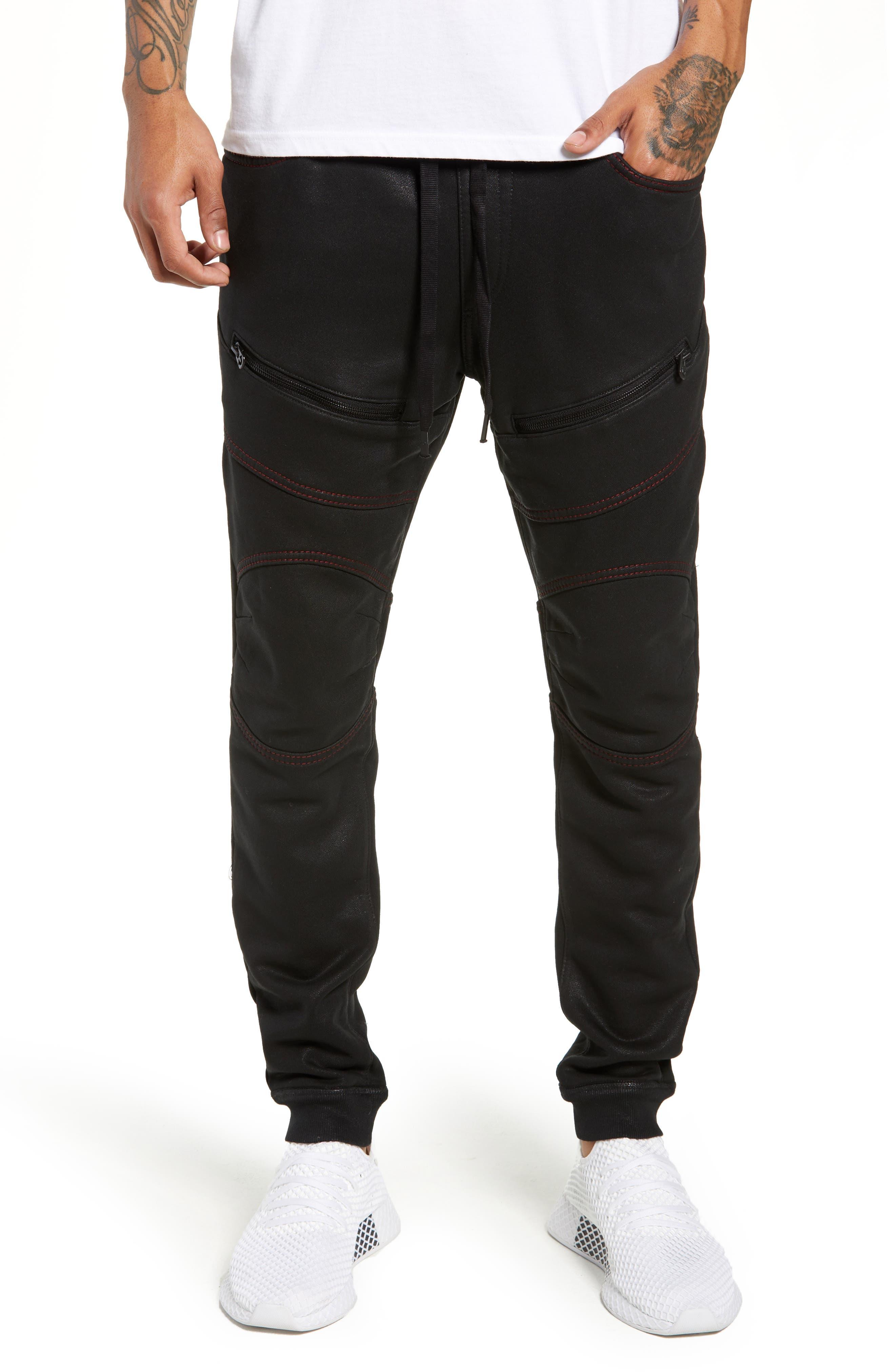 Moto Active Sweatpants,                             Main thumbnail 1, color,                             TRUE BLACK
