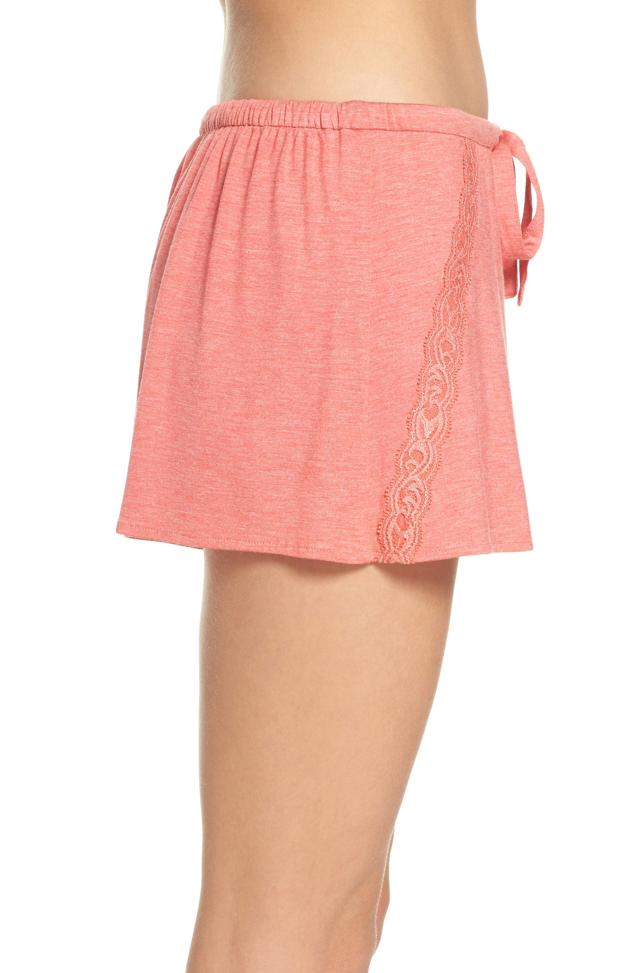 Feathers Essential Pajama Shorts,                             Alternate thumbnail 6, color,