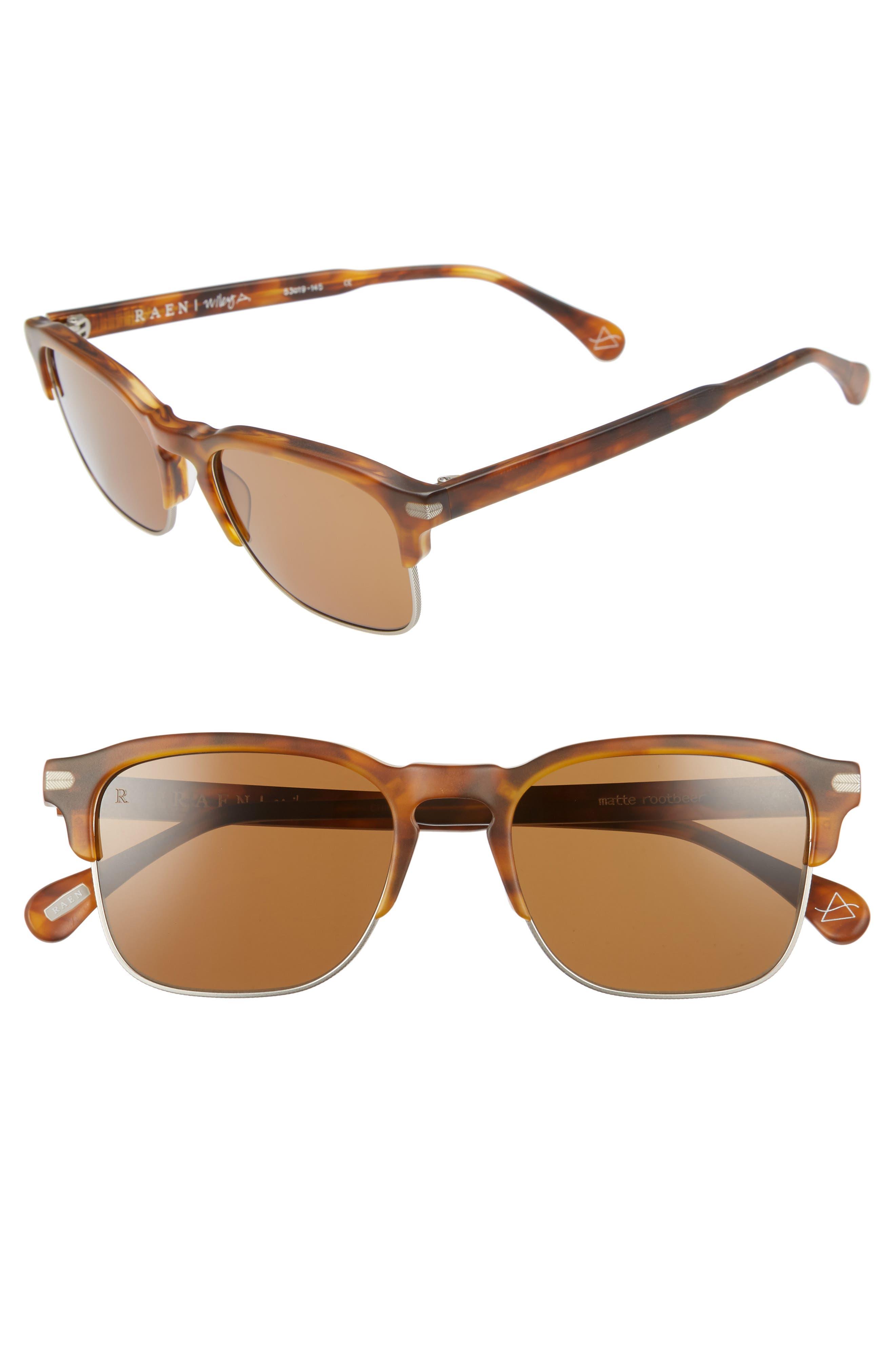Wiley A 53mm Sunglasses,                             Main thumbnail 1, color,                             AMERICANO