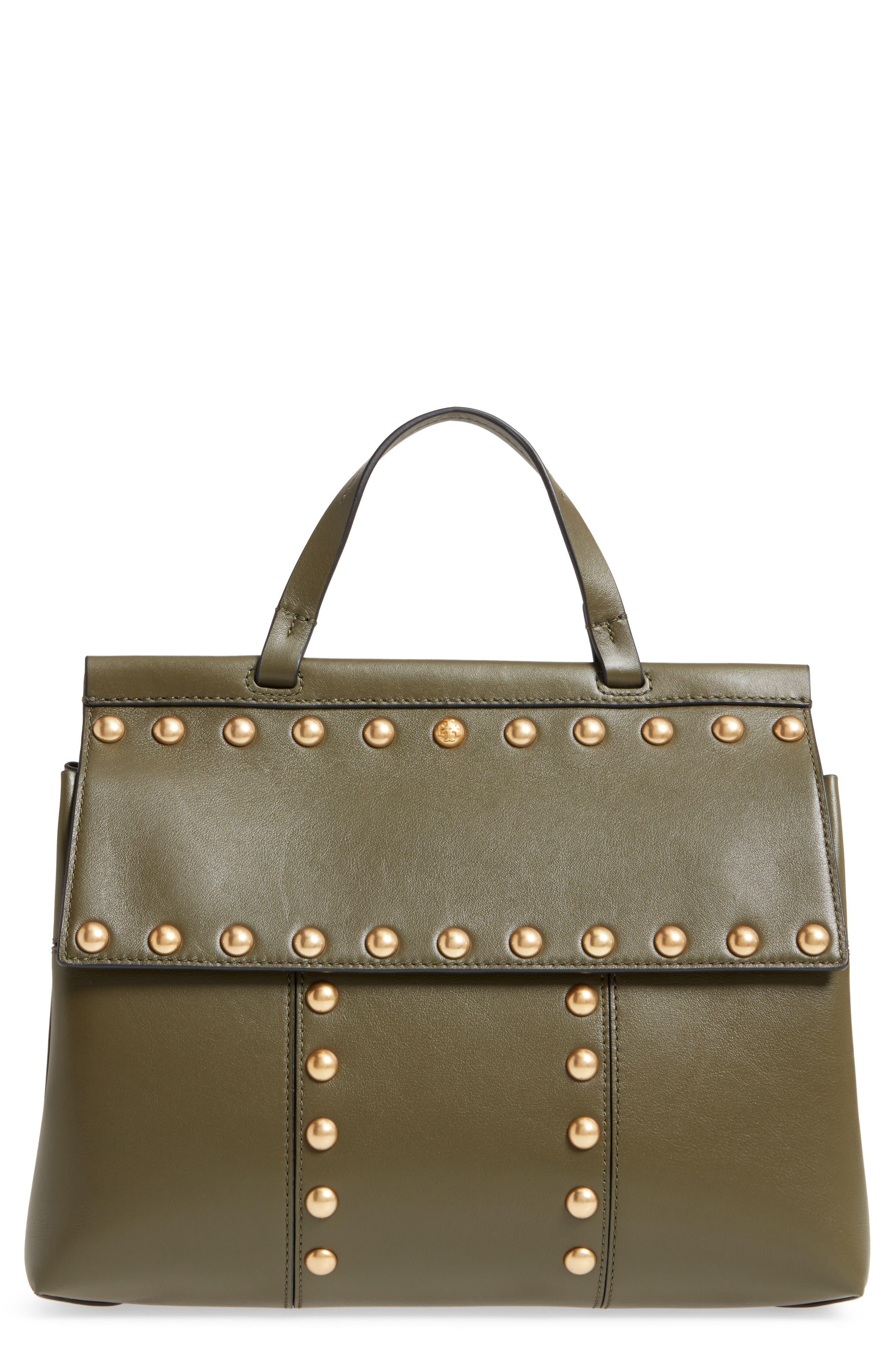 Block-T Studded Leather Top Handle Satchel,                             Main thumbnail 1, color,                             300