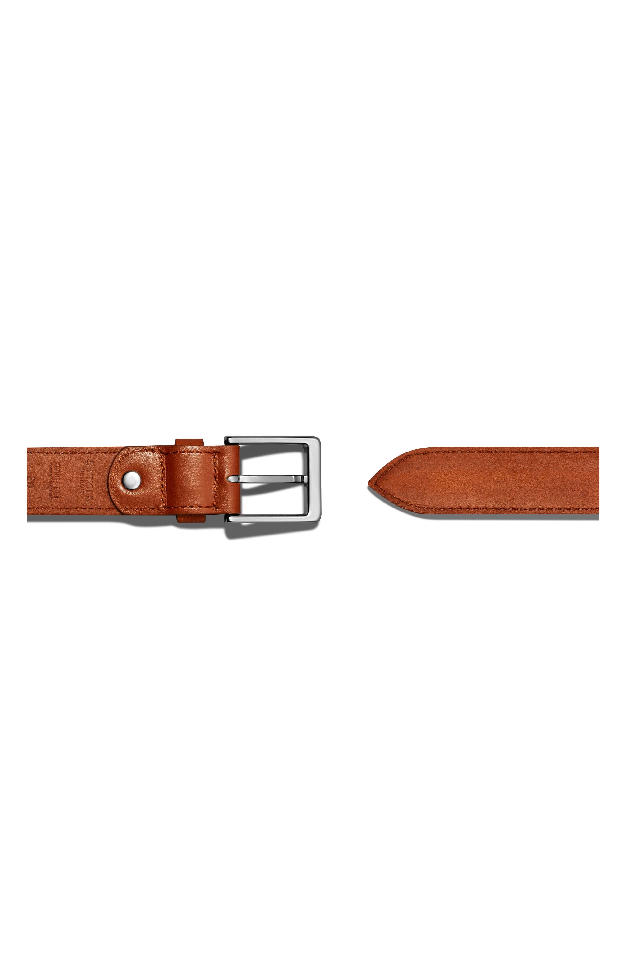 Bombay Tab Leather Belt,                             Alternate thumbnail 2, color,                             BOURBON