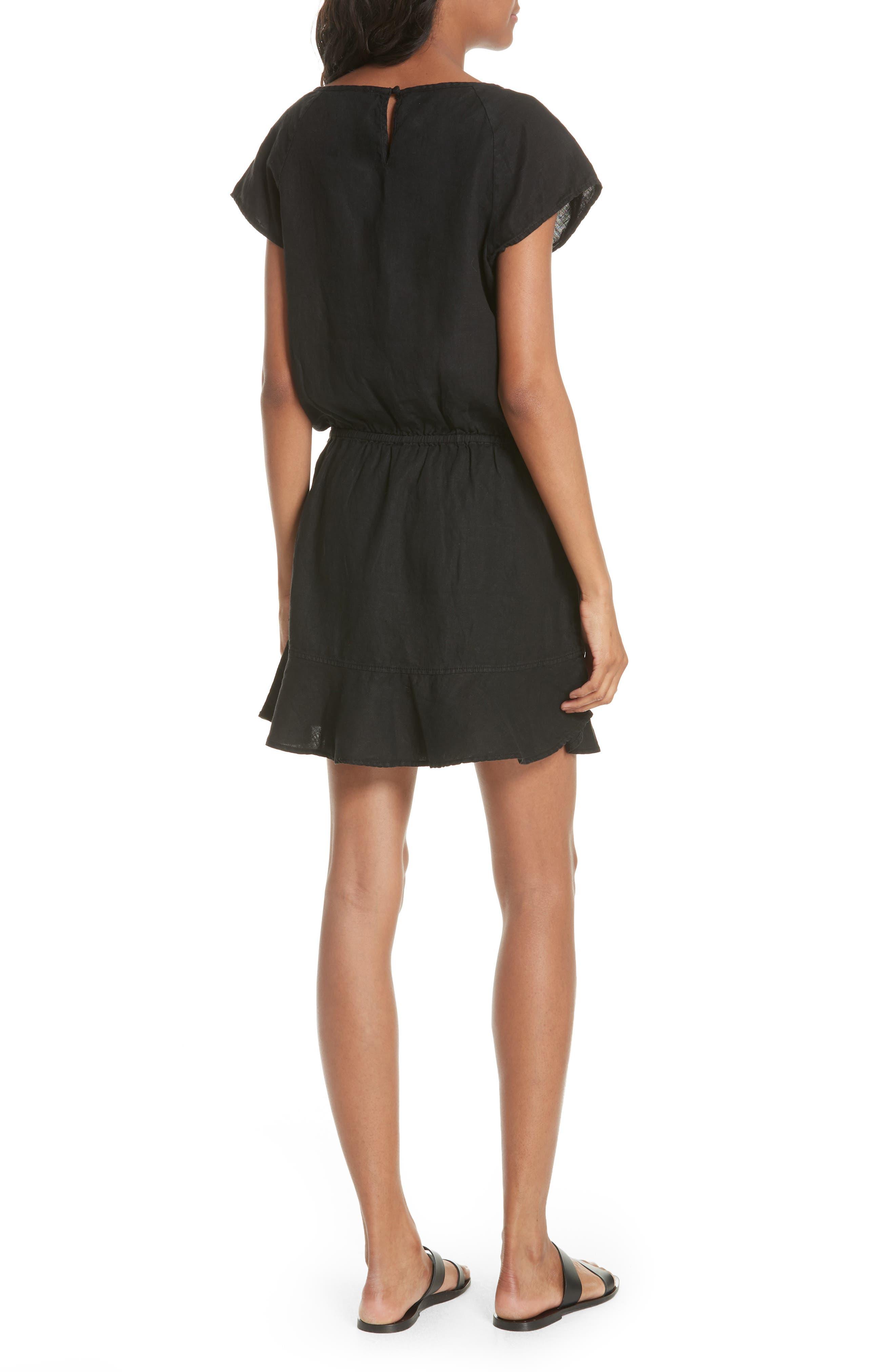 Quora Ruffle Linen Dress,                             Alternate thumbnail 3, color,