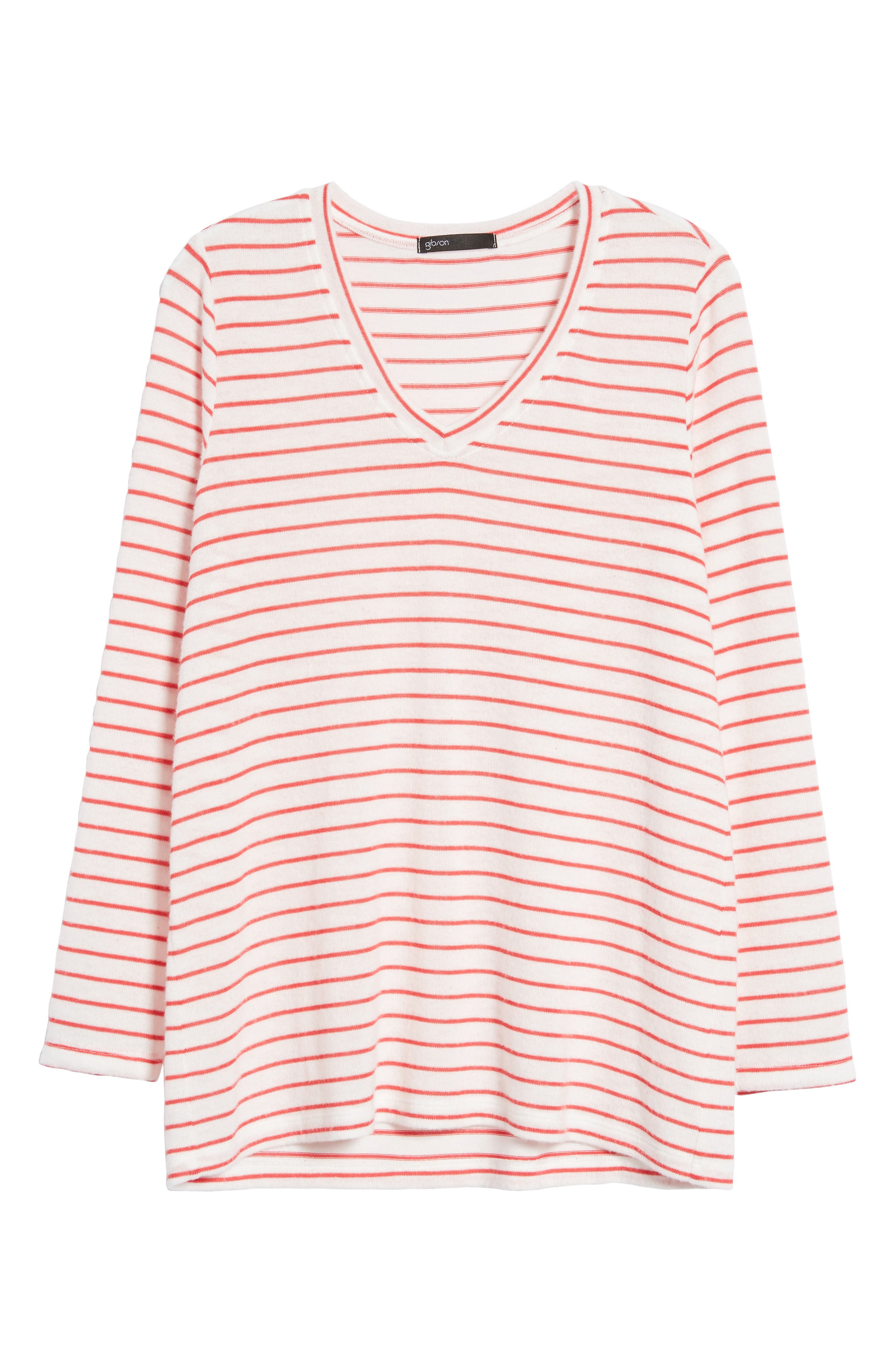 x Living in Yellow Steph Cozy Stripe Top,                             Alternate thumbnail 13, color,