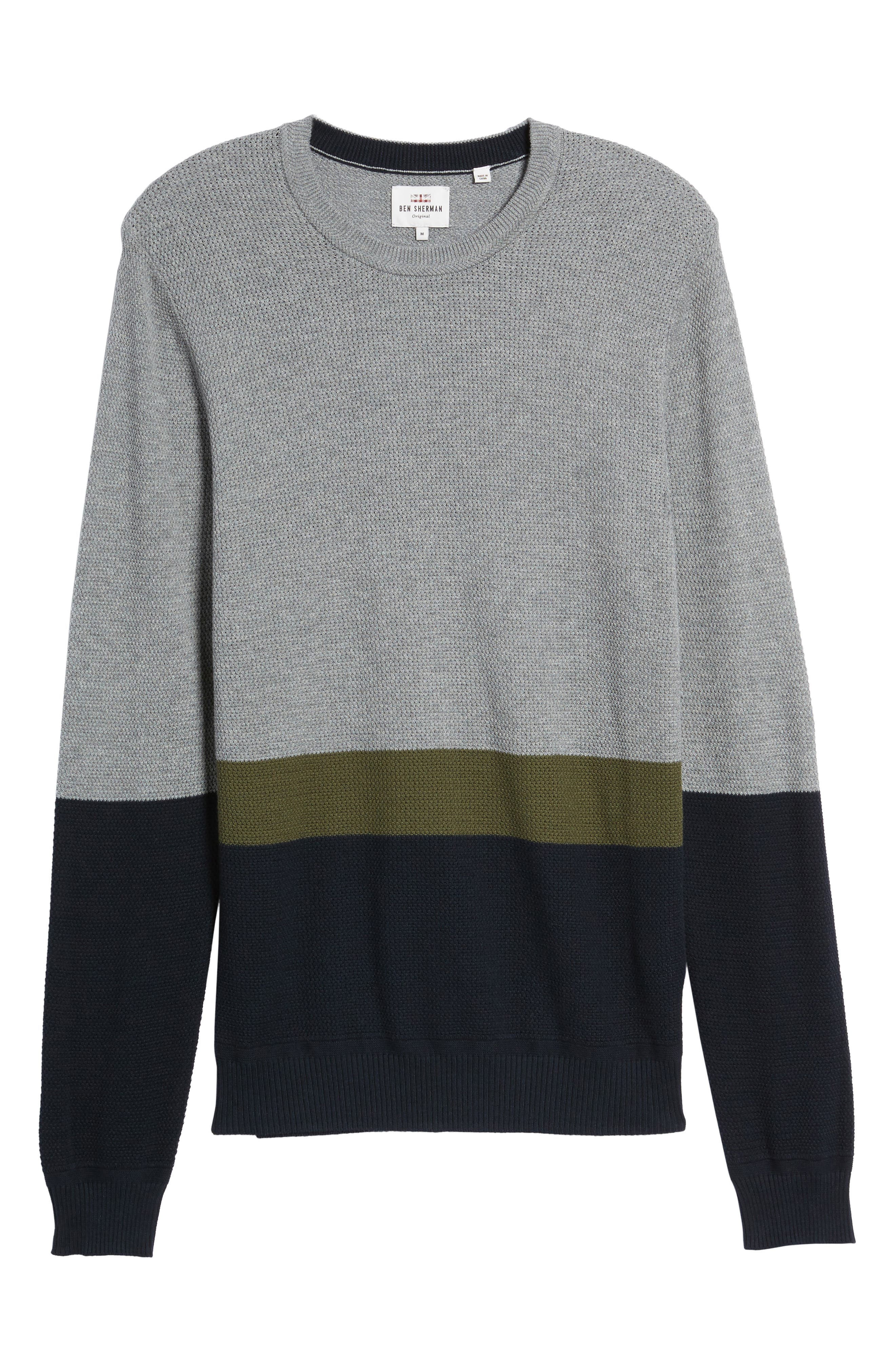 Textured Colorblock Sweater,                             Alternate thumbnail 6, color,                             036