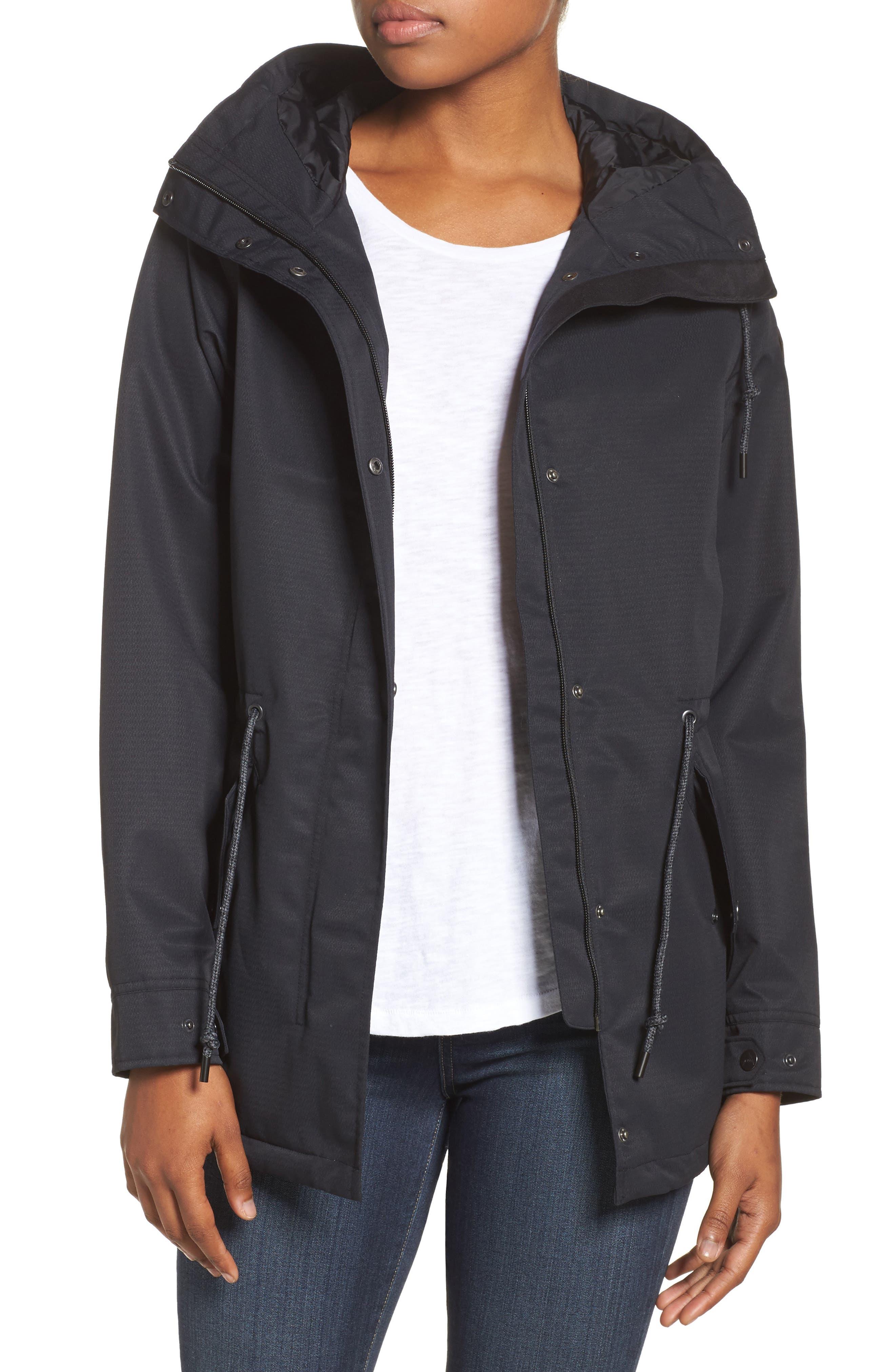 Sadie Waterproof Hooded Jacket,                             Main thumbnail 1, color,                             001
