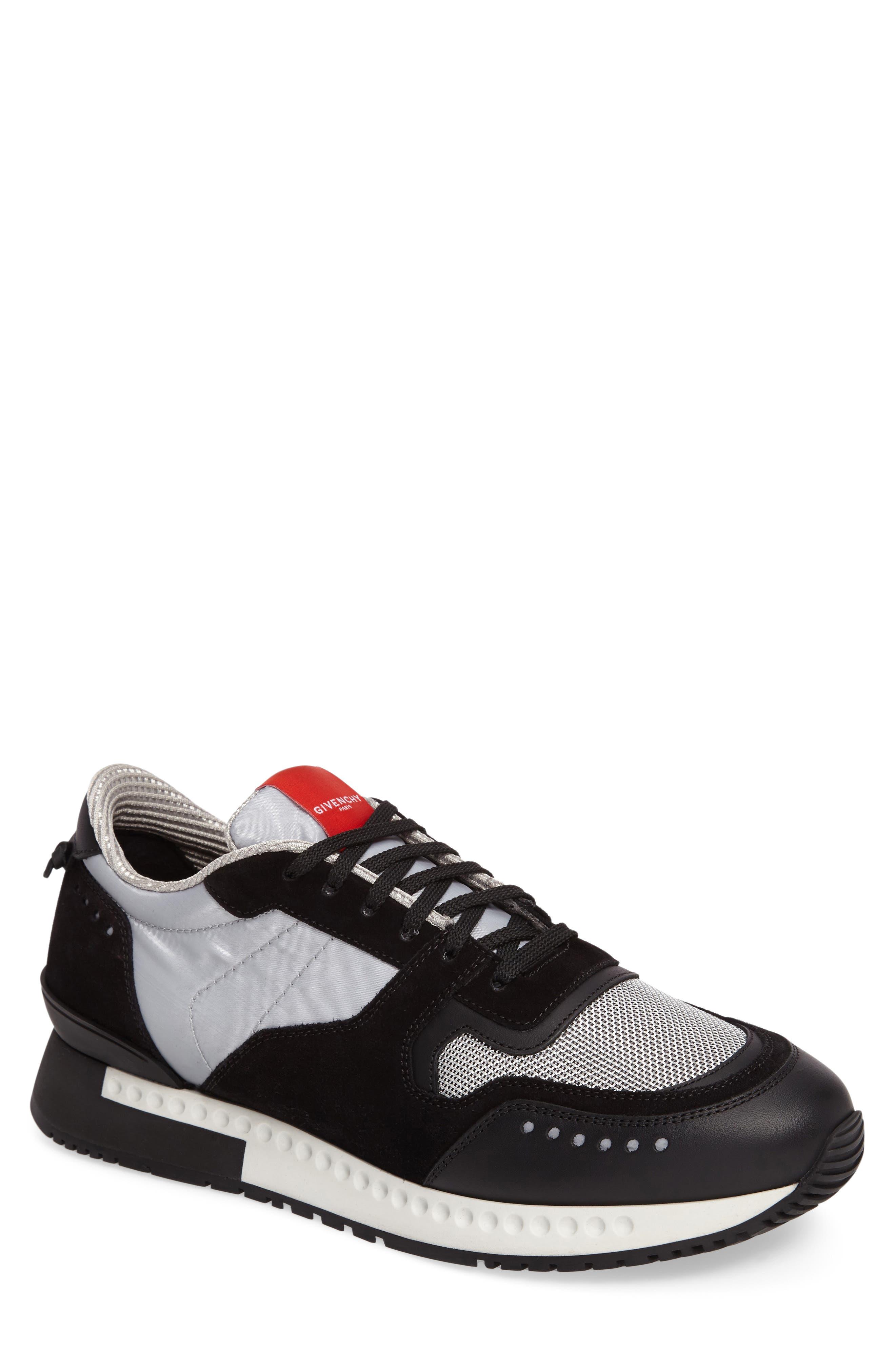 Mixed-Finish Sneaker,                             Main thumbnail 1, color,                             008