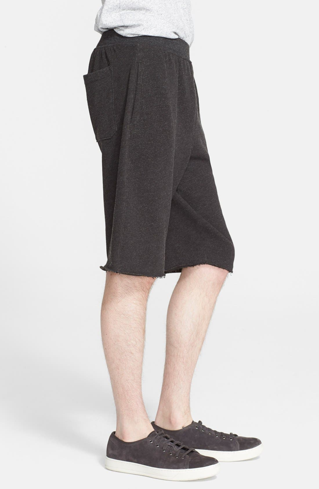 Cutoff Sweat Shorts,                             Alternate thumbnail 4, color,                             021