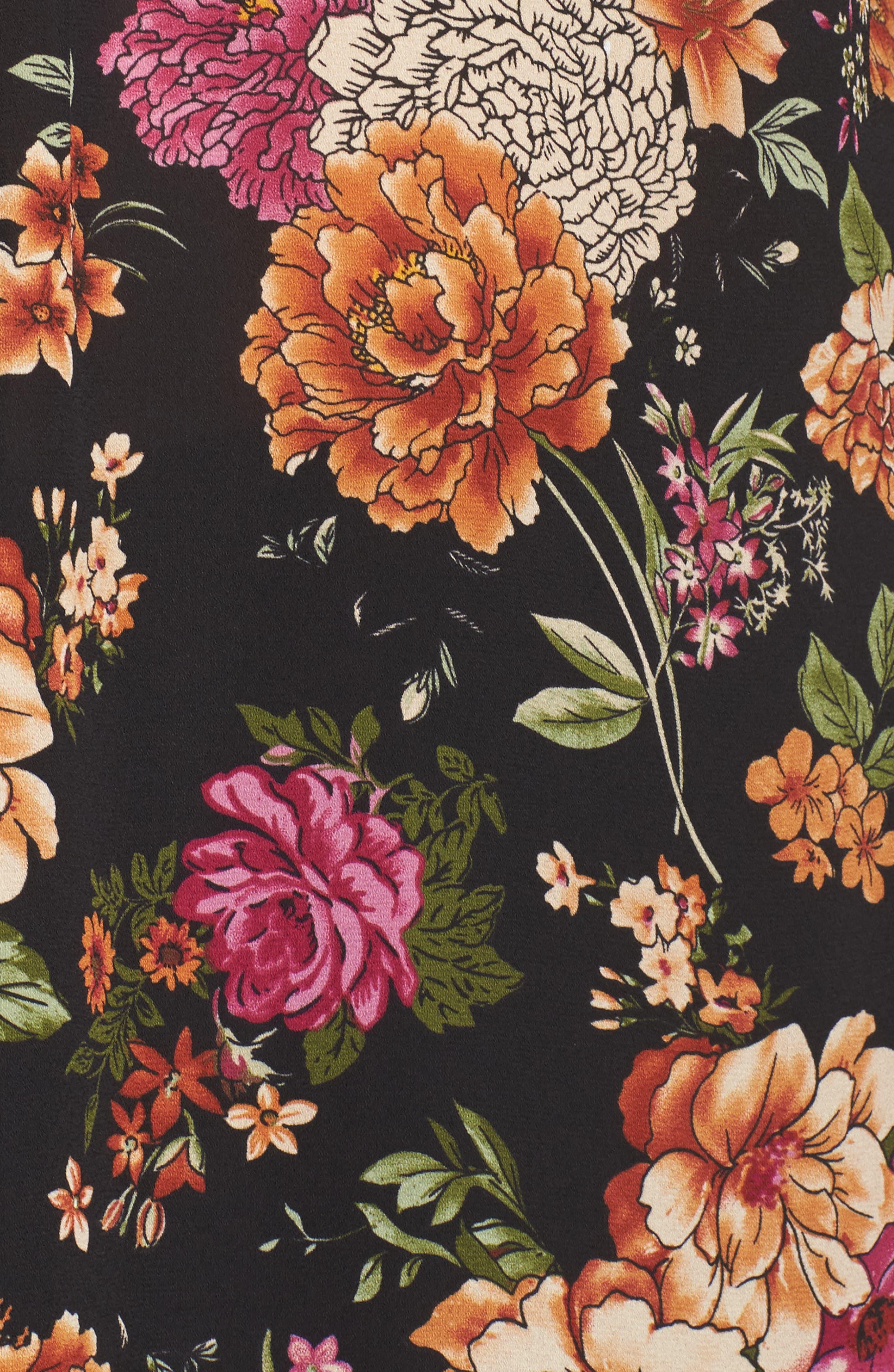 Roll Sleeve Pintuck Blouse,                             Alternate thumbnail 5, color,                             006