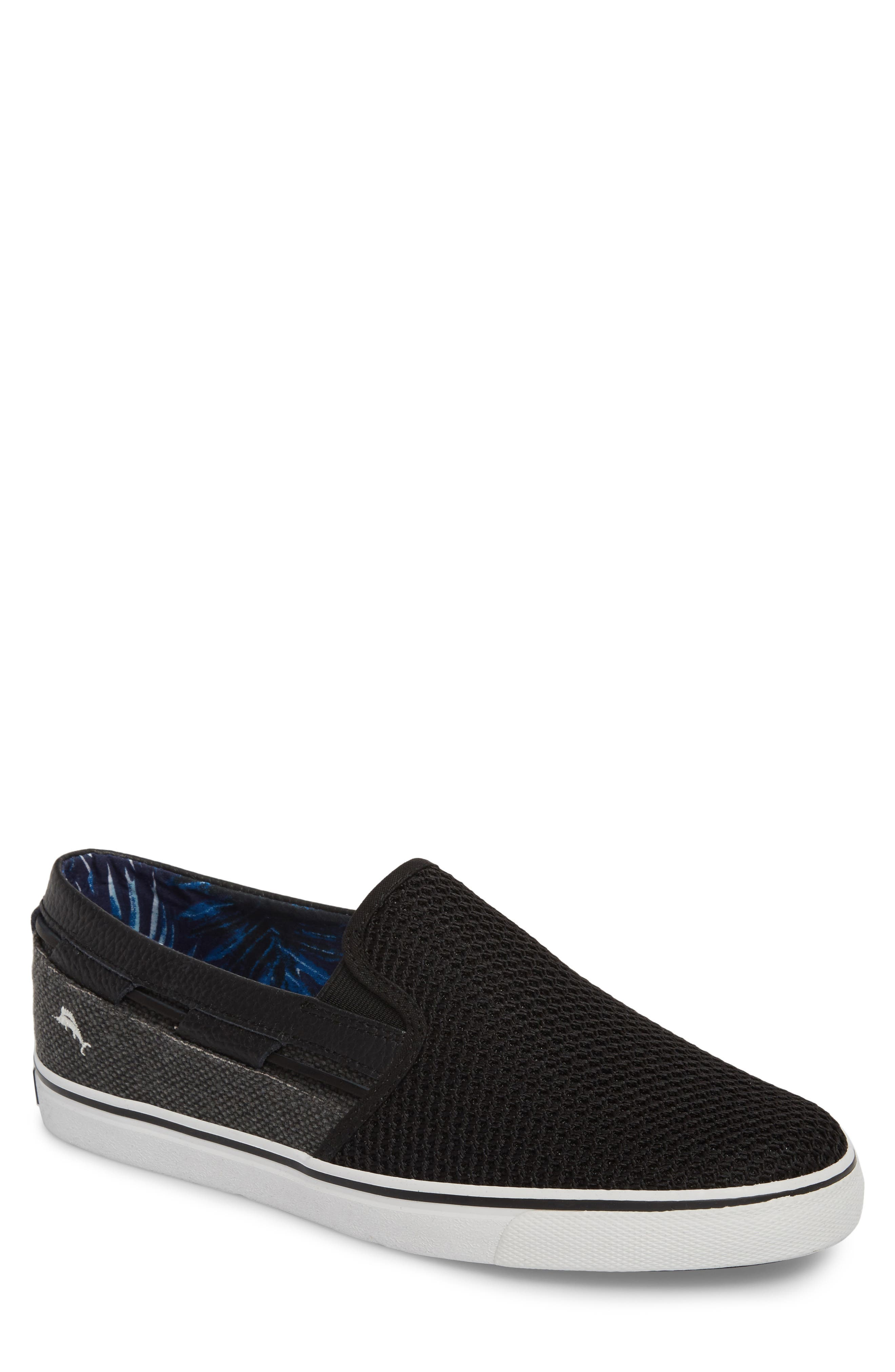 Exodus Mesh Slip-On Sneaker,                             Main thumbnail 1, color,                             BLACK MESH/ TEXTILE