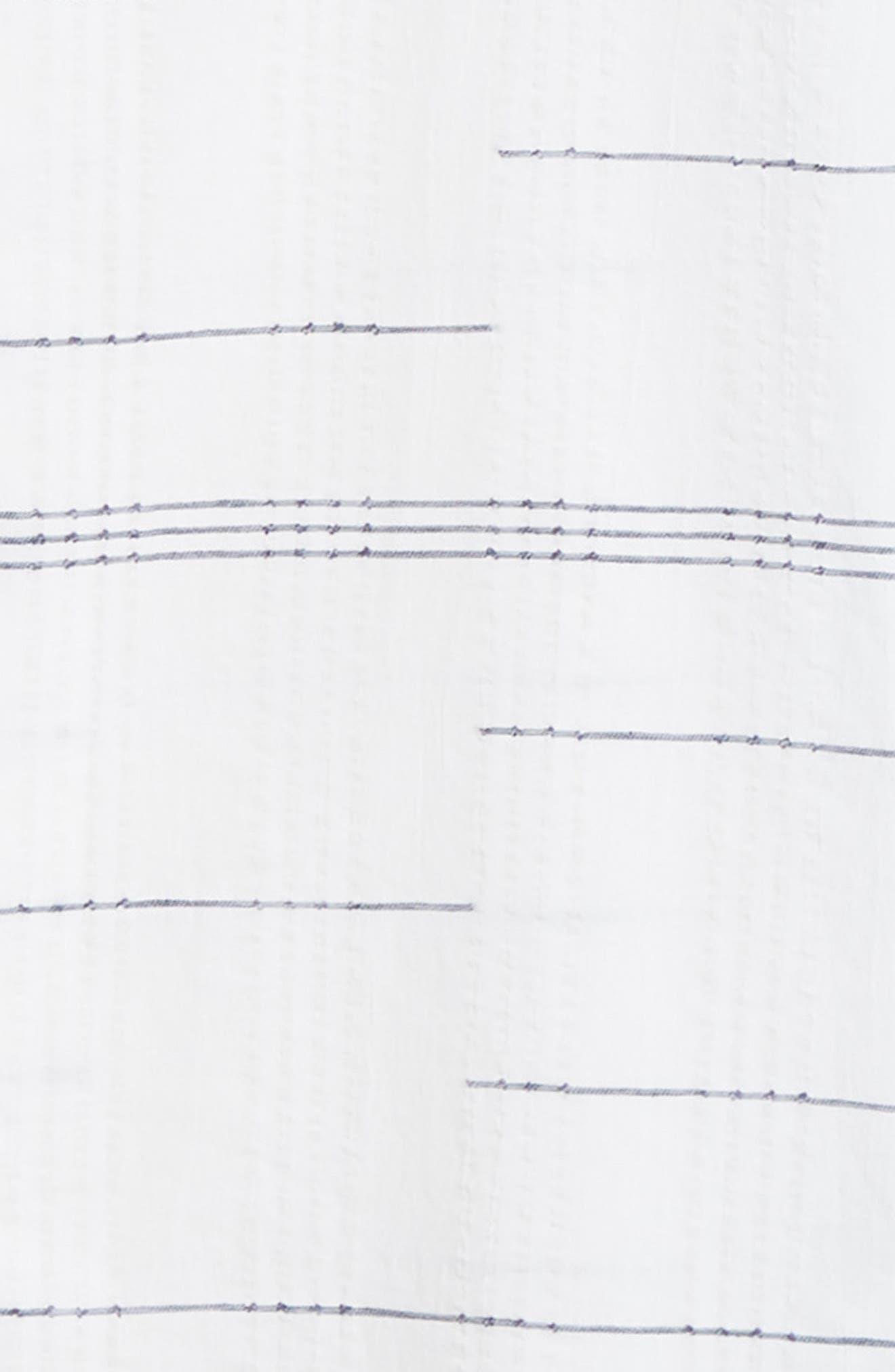 Embroidered Stripe Woven Shirt,                             Alternate thumbnail 7, color,                             WHITE