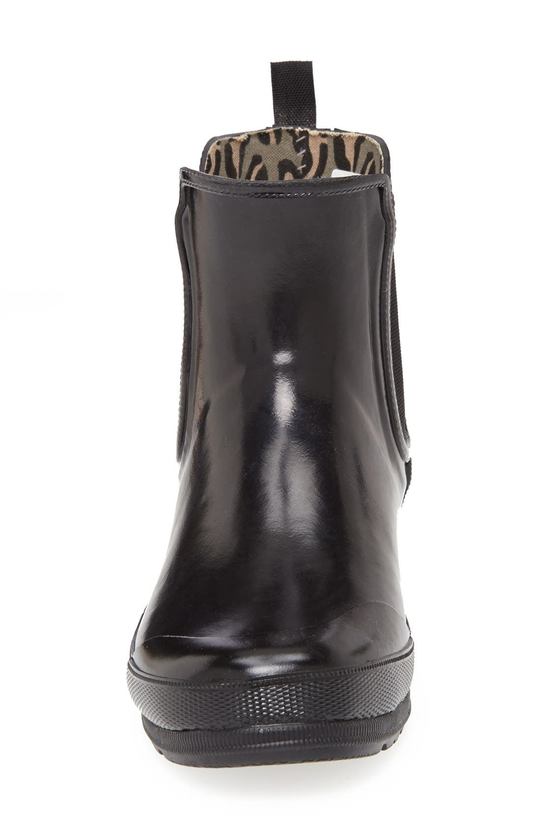 Top-Sider<sup>®</sup> 'Starling' Rubber Rain Boot,                             Alternate thumbnail 4, color,                             001