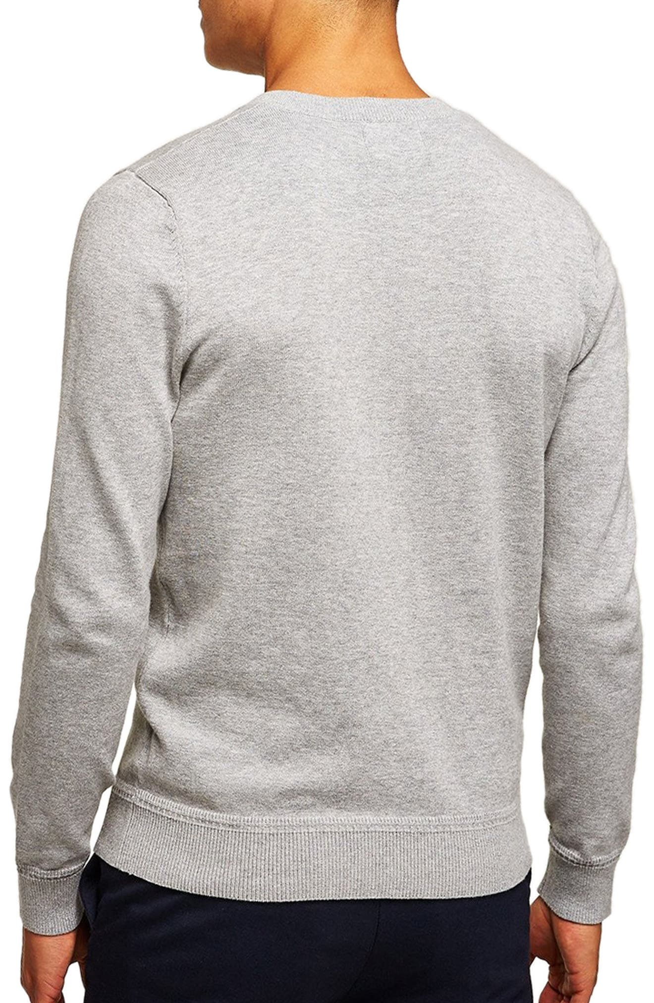 Classic V-Neck Sweater,                             Alternate thumbnail 2, color,                             GREY