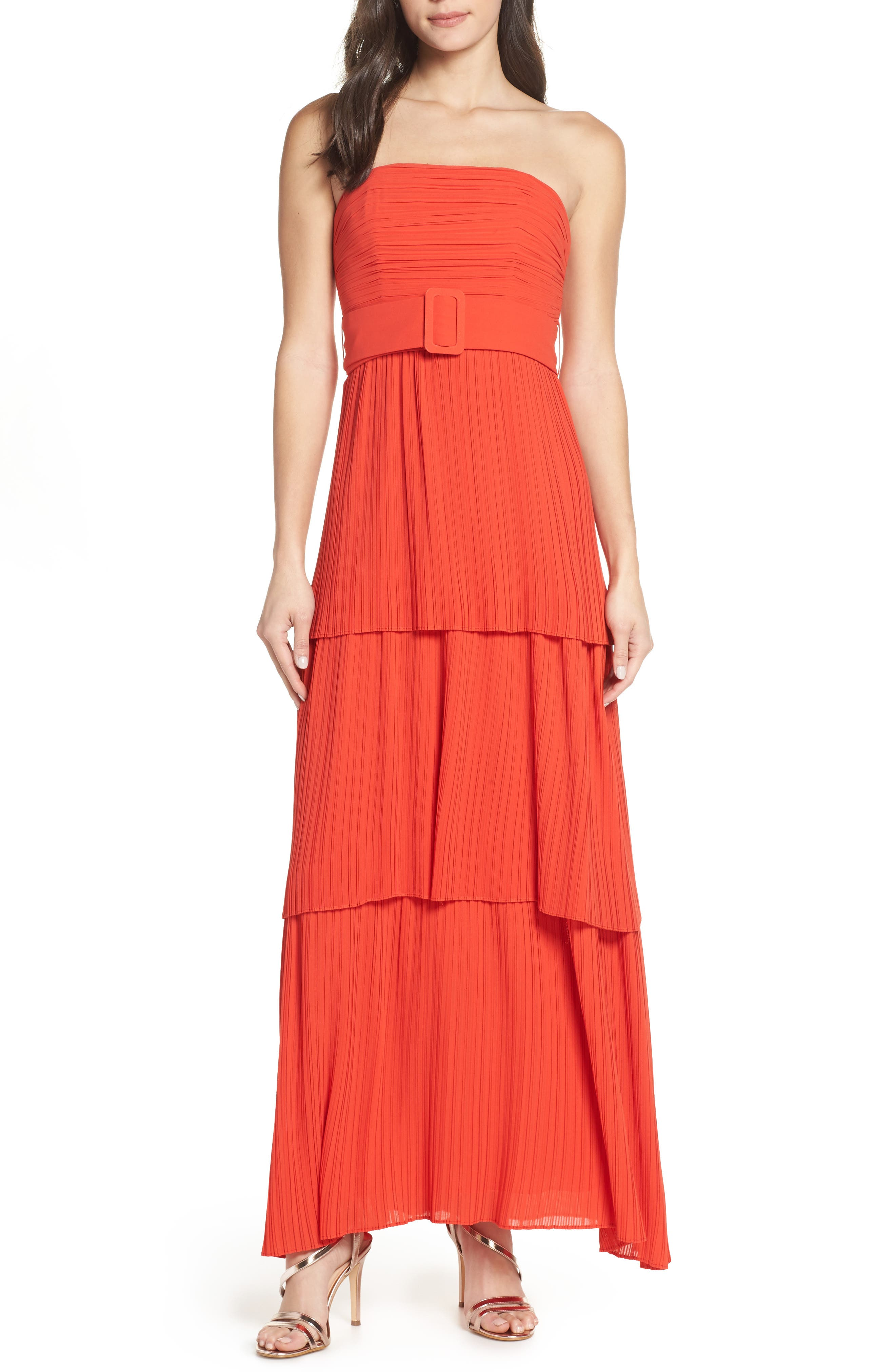 Fame And Partners The Whittier Evening Dress, Orange