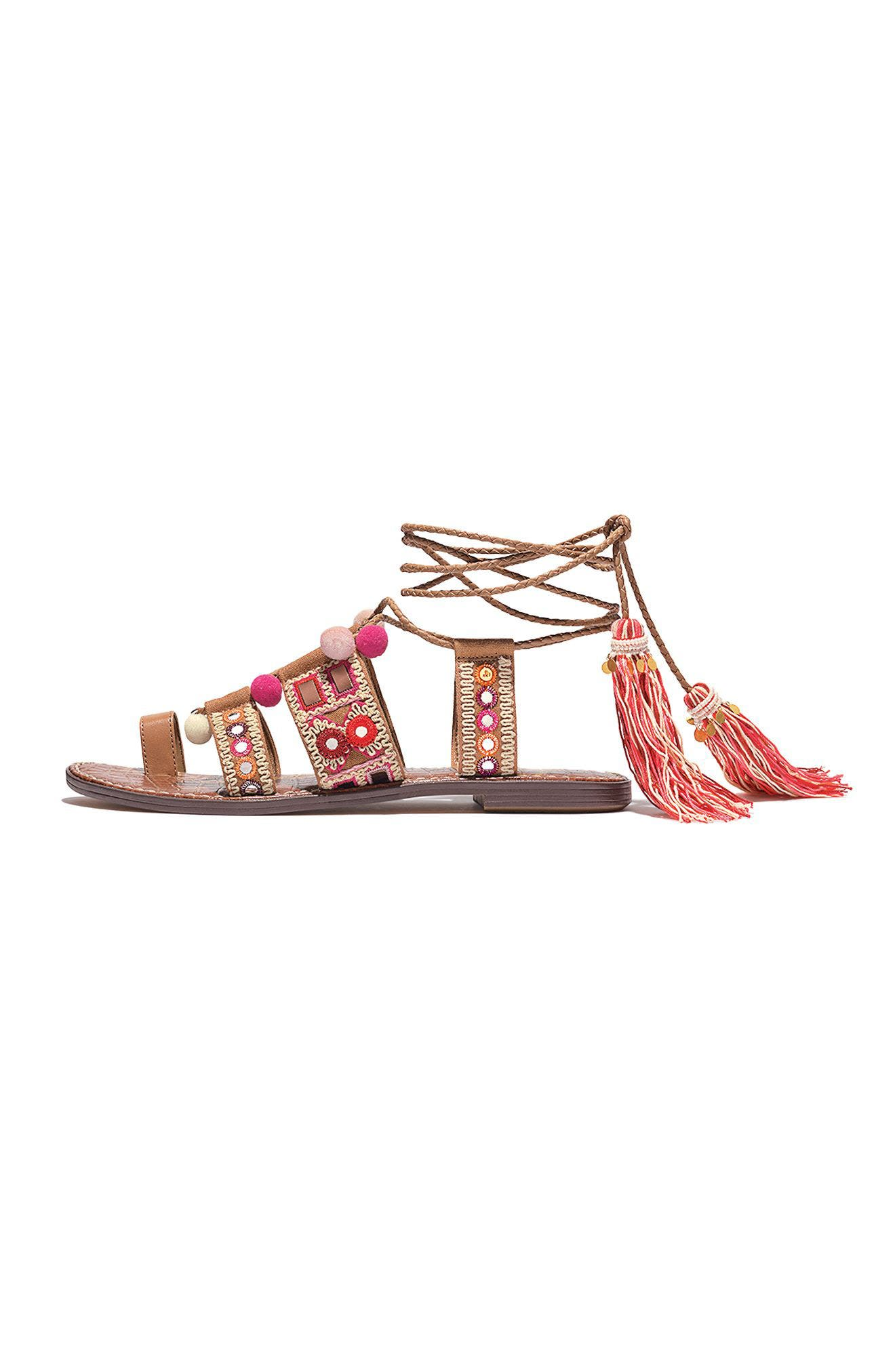 Gretchen Gladiator Sandal,                             Alternate thumbnail 6, color,                             020