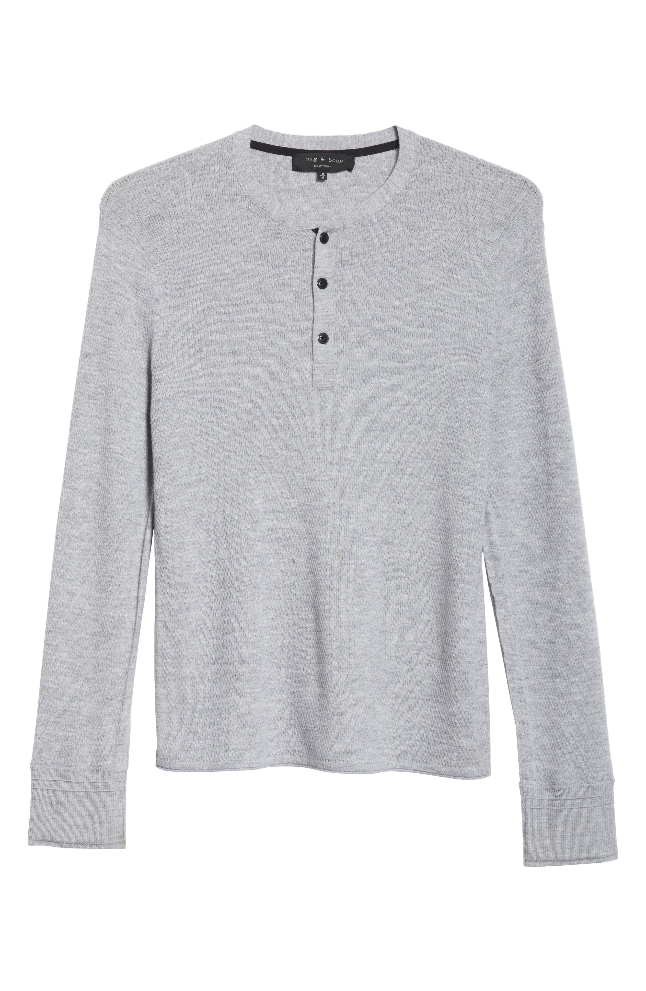 Gregory Wool Blend Thermal Henley,                             Alternate thumbnail 6, color,                             GREY
