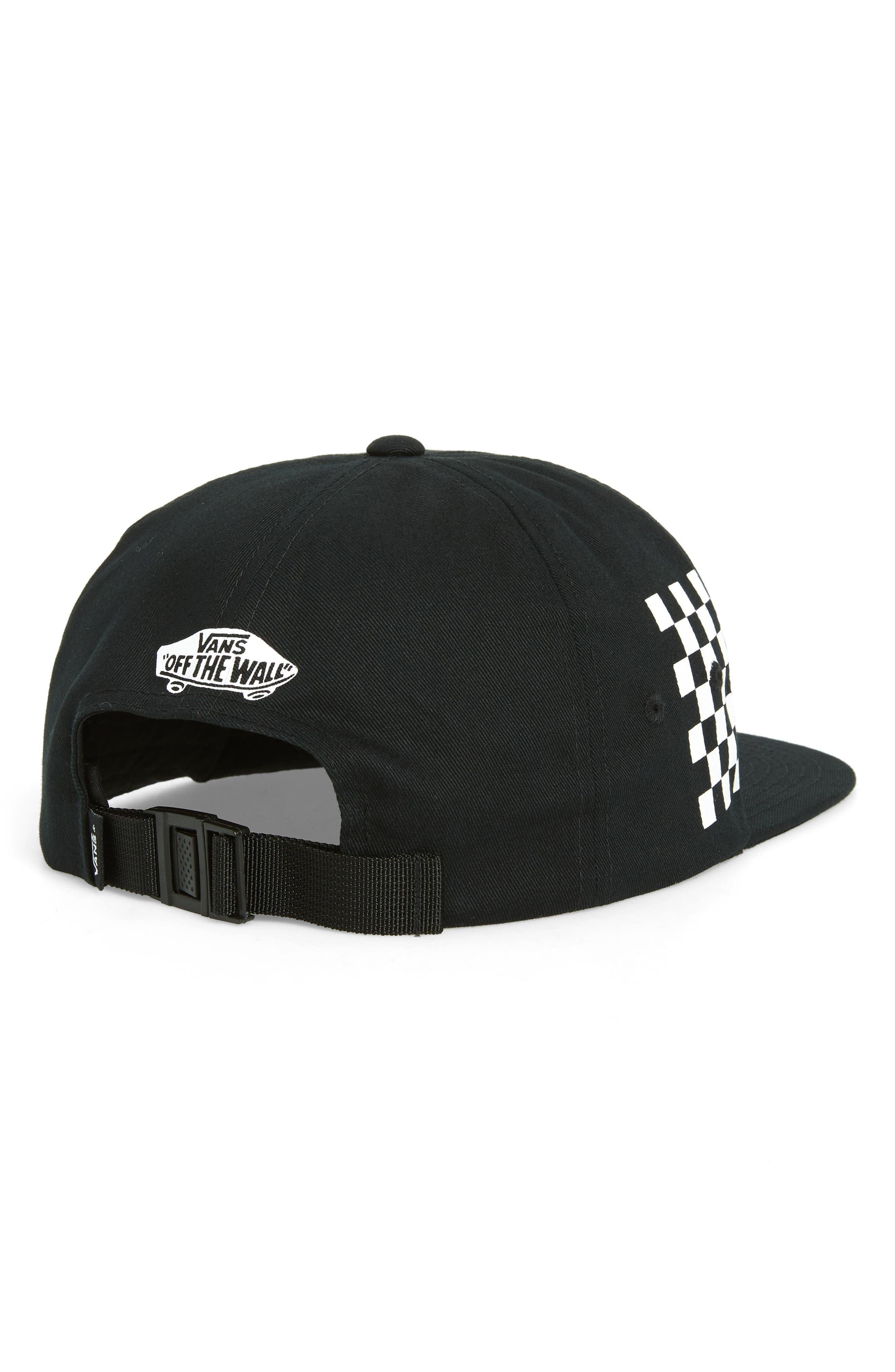 Distort Logo Baseball Cap,                             Alternate thumbnail 2, color,                             BLACK