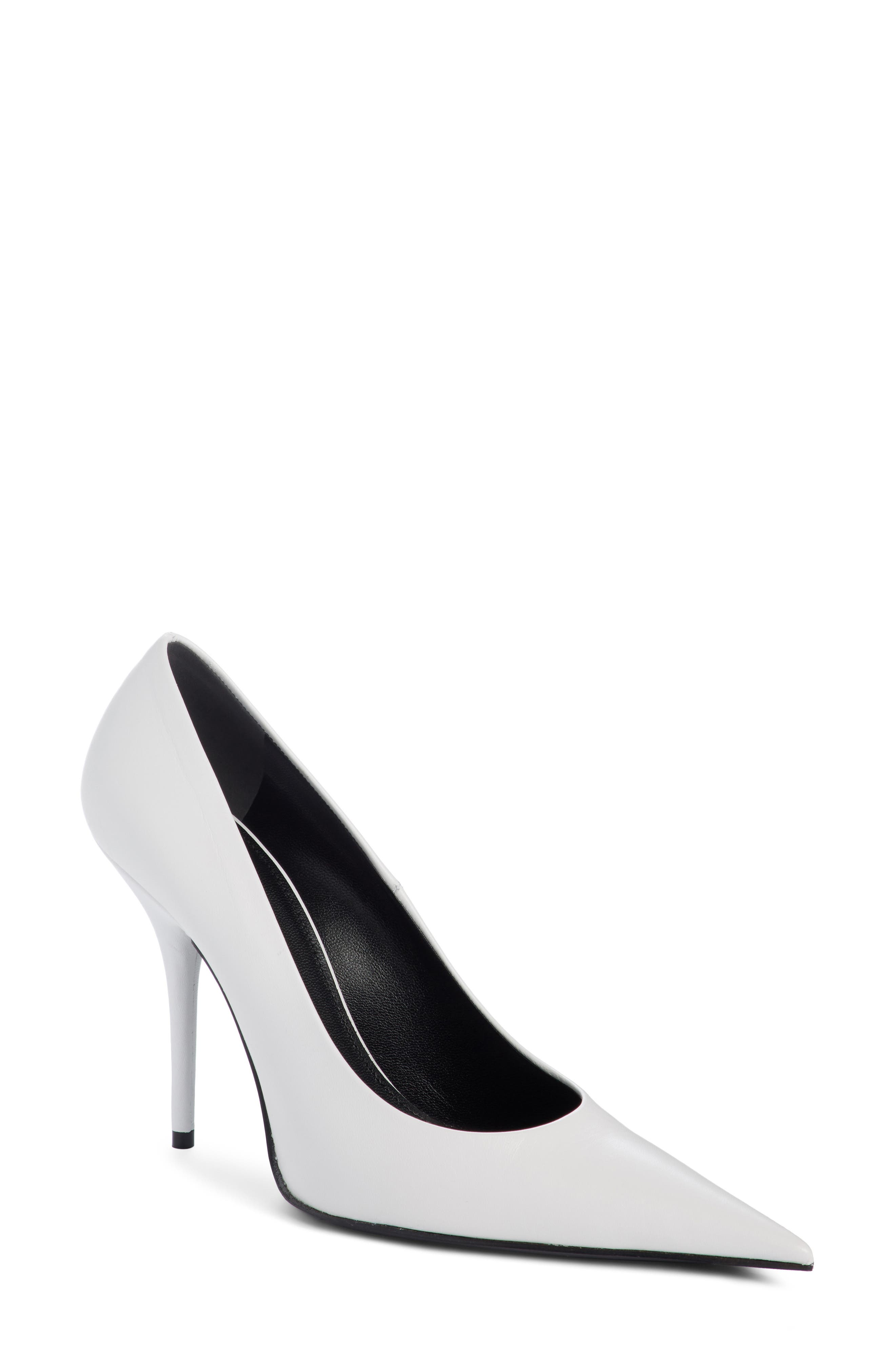Pointy Toe Pump,                         Main,                         color, WHITE