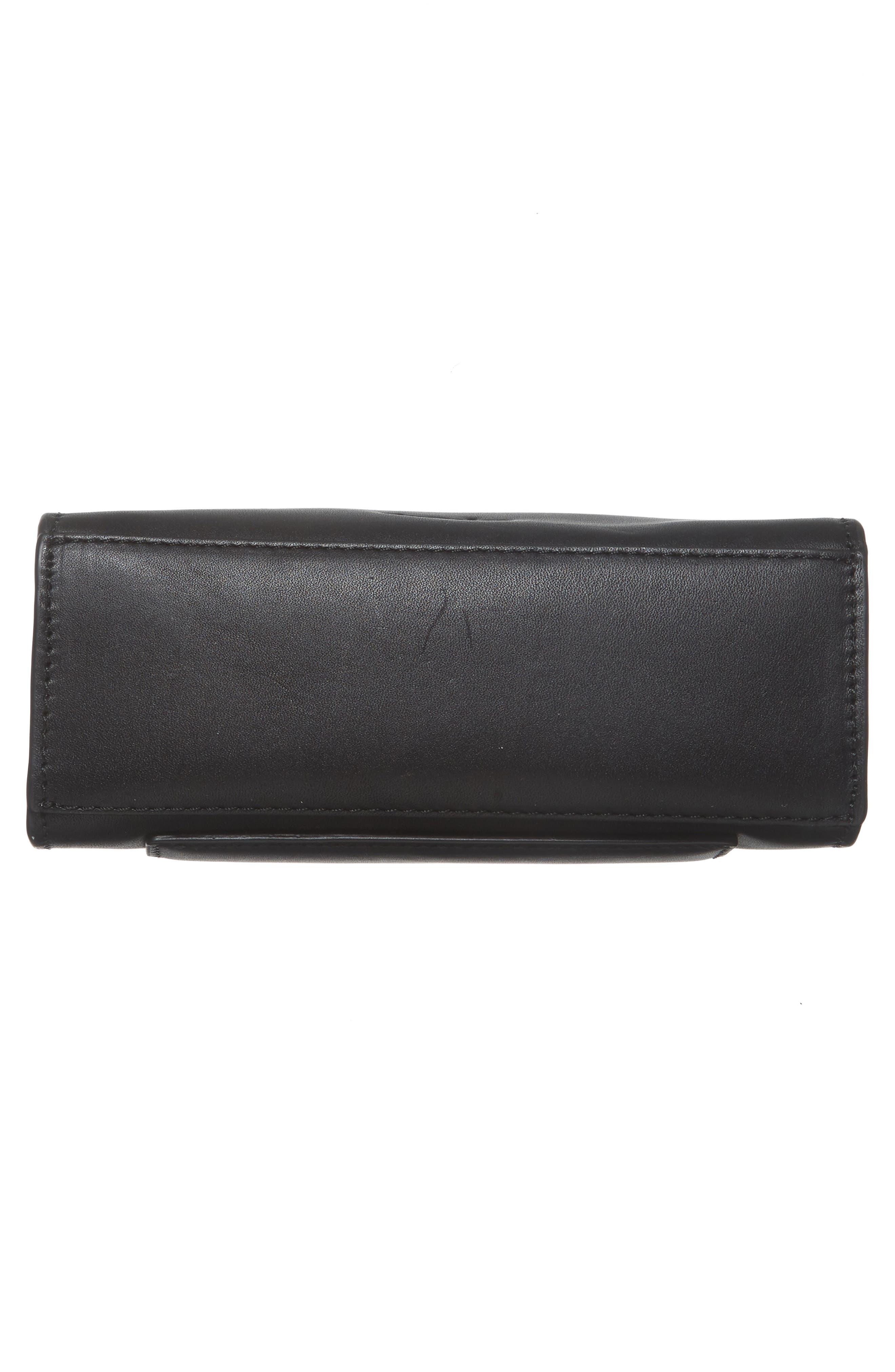 Camden Leather Crossbody Bag,                             Alternate thumbnail 6, color,                             001