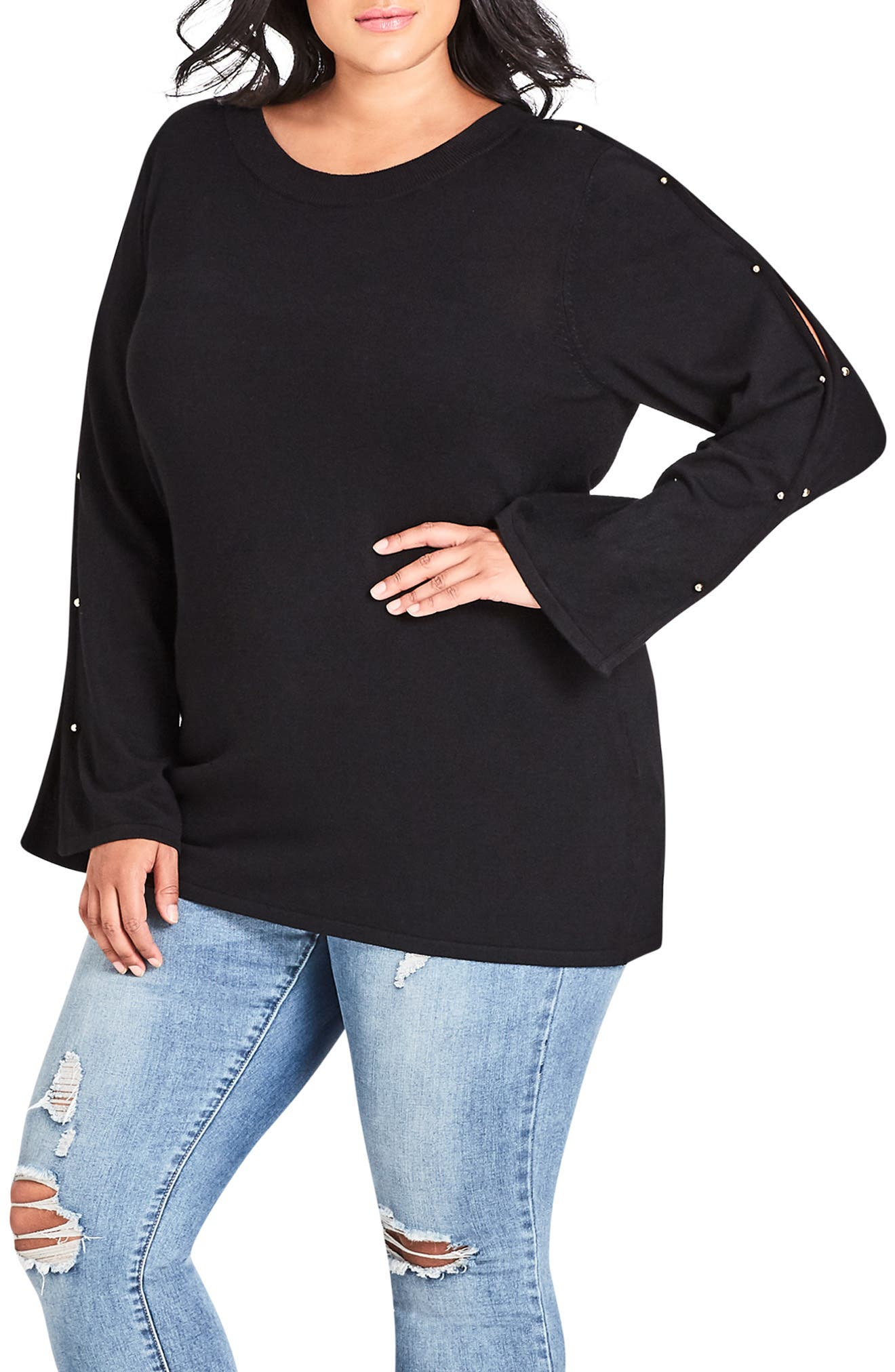 Barbell Sweater,                             Main thumbnail 1, color,                             001