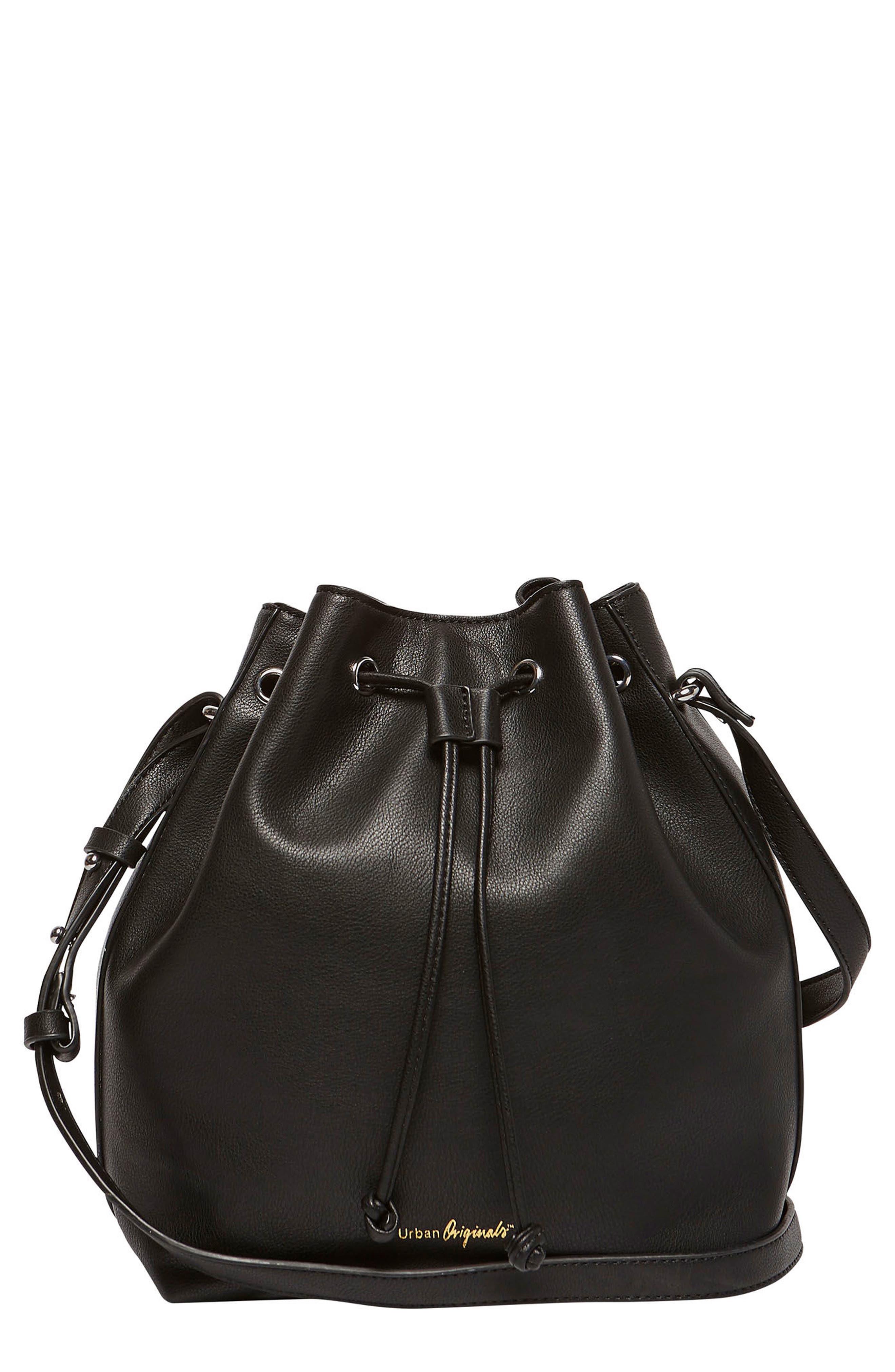 Take Me Home Vegan Leather Bag,                             Main thumbnail 1, color,                             001