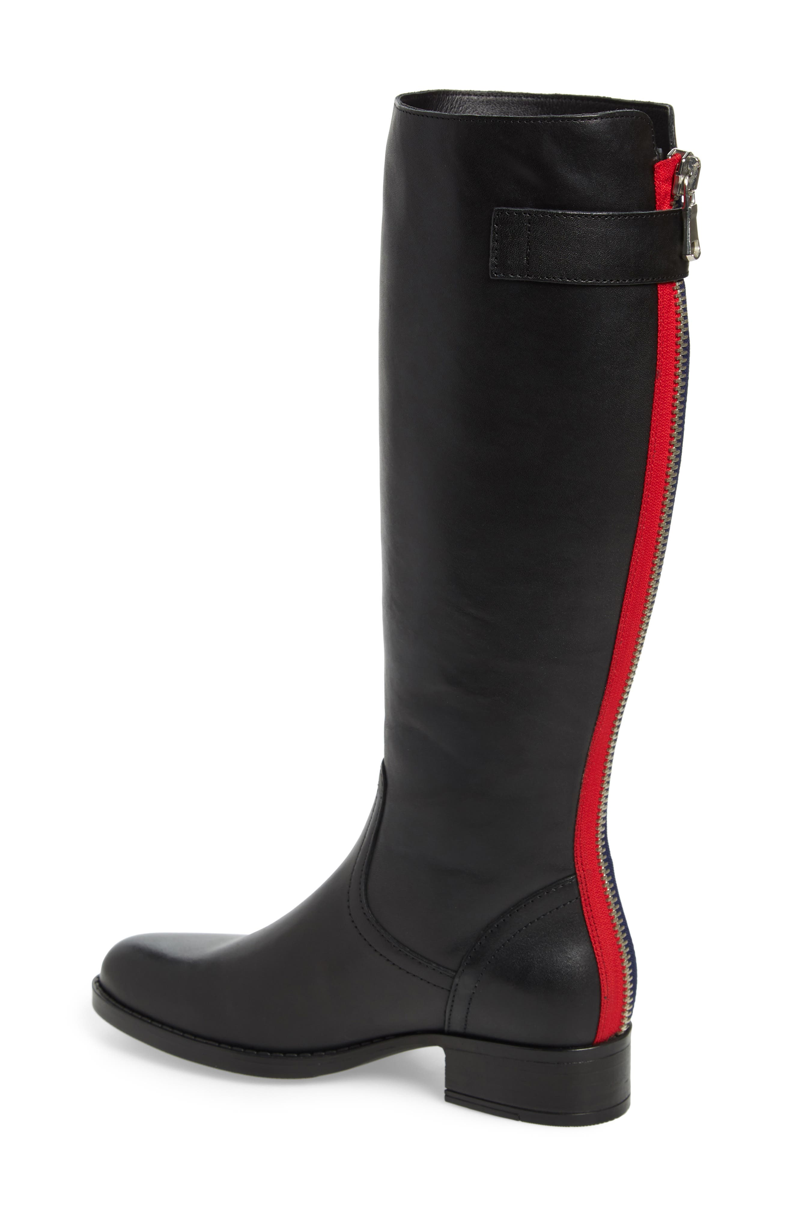 Journal Knee High Boot,                             Alternate thumbnail 2, color,                             BLACK LEATHER