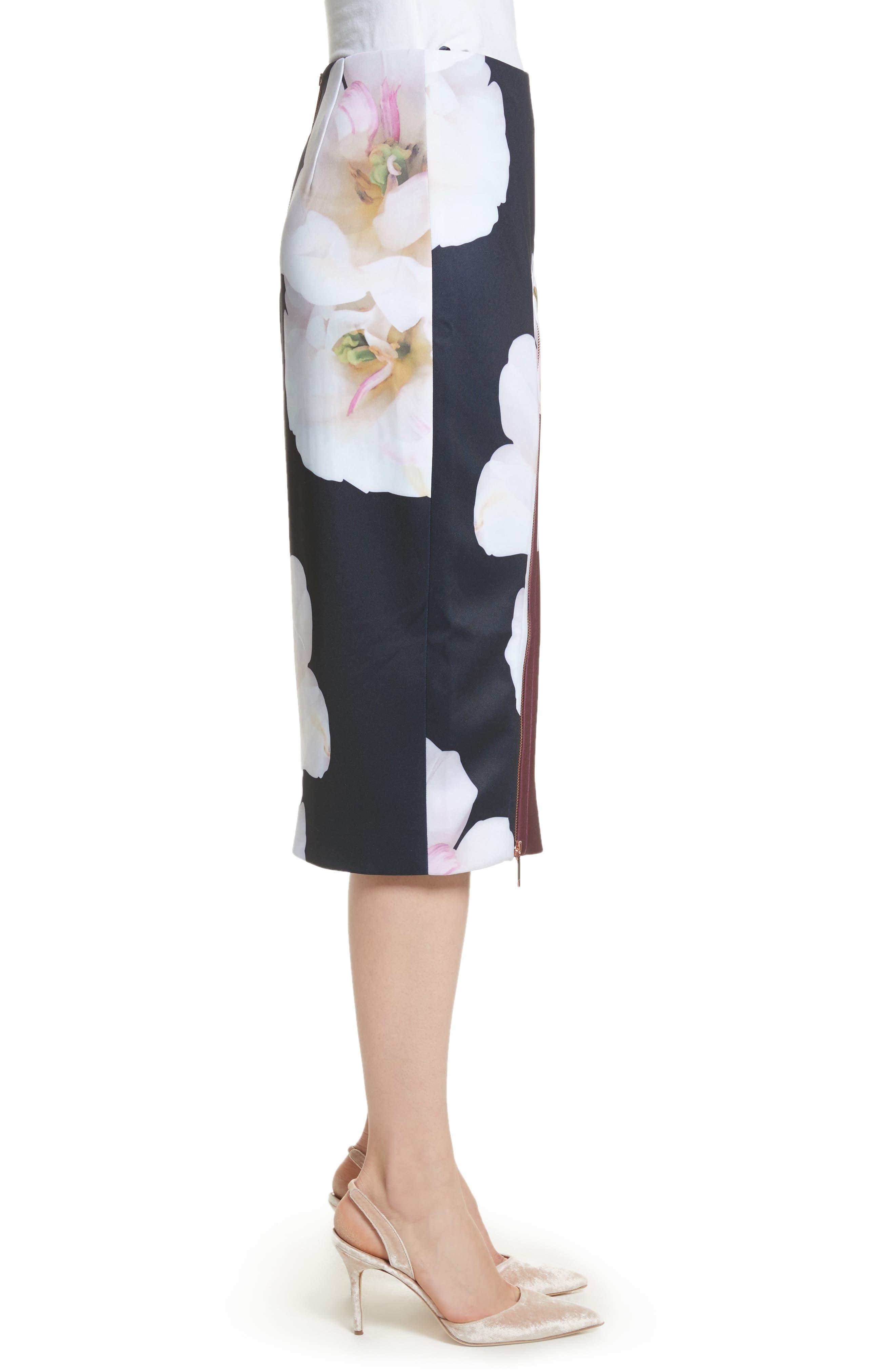 Gardenia Pencil Skirt,                             Alternate thumbnail 3, color,                             402