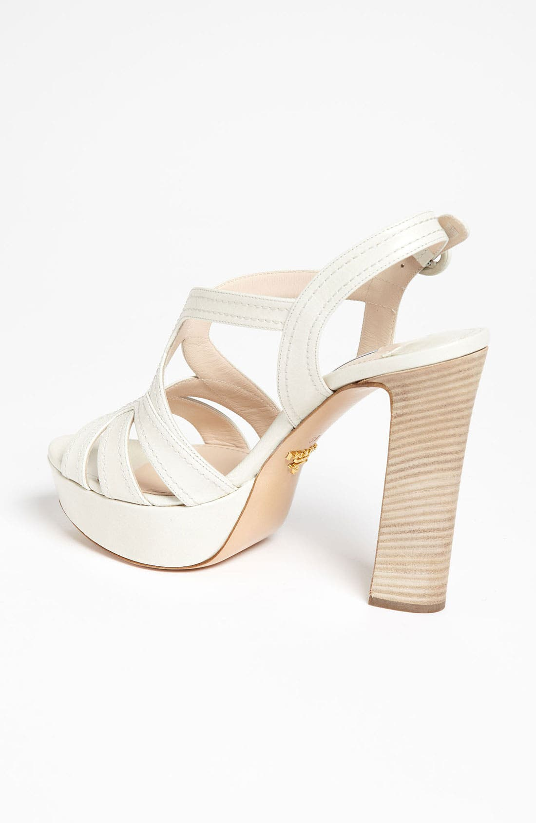 Blonde Heel Sandal,                             Alternate thumbnail 3, color,                             100