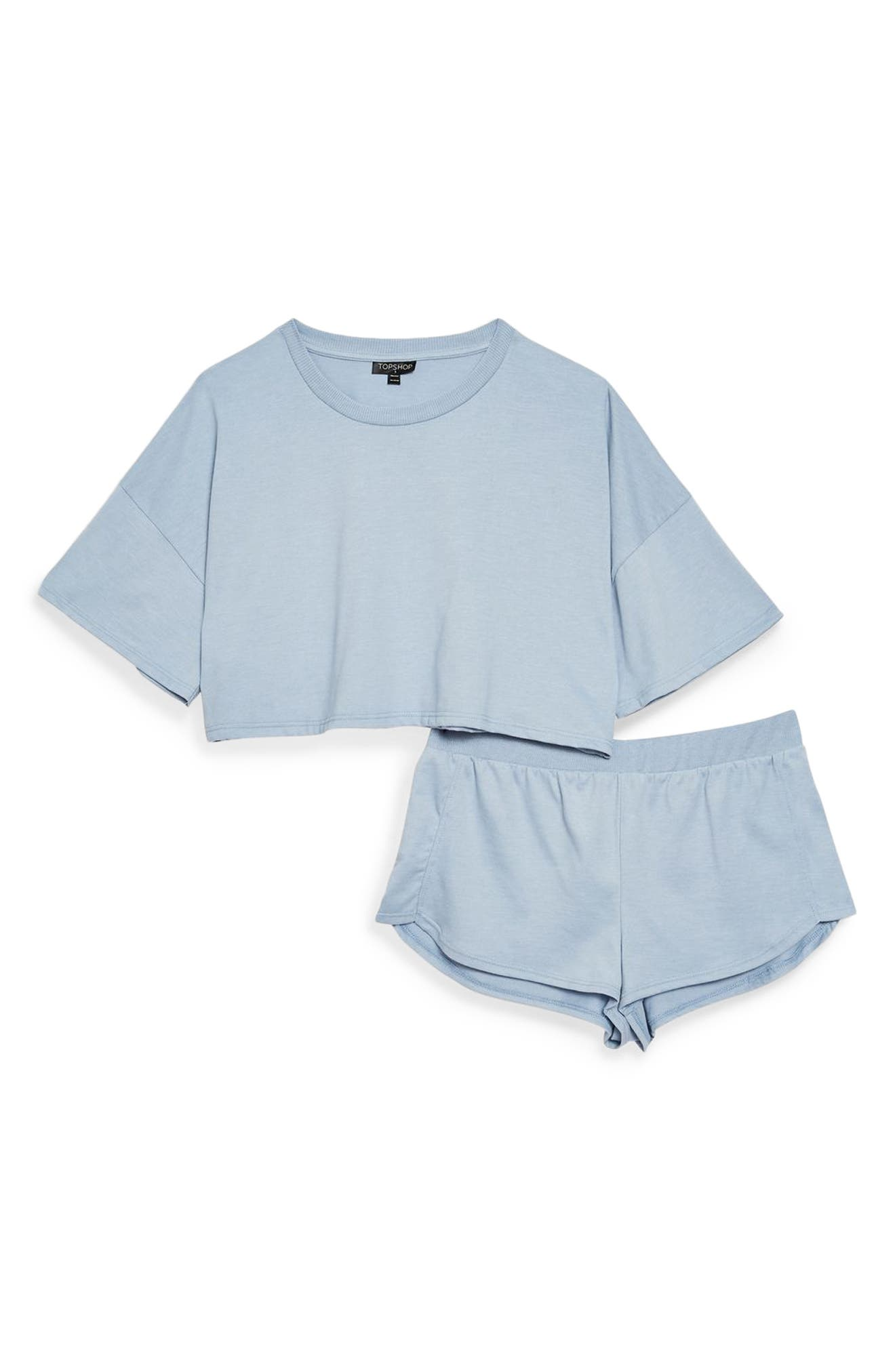 Jersey Crop Pajamas,                             Alternate thumbnail 3, color,                             400
