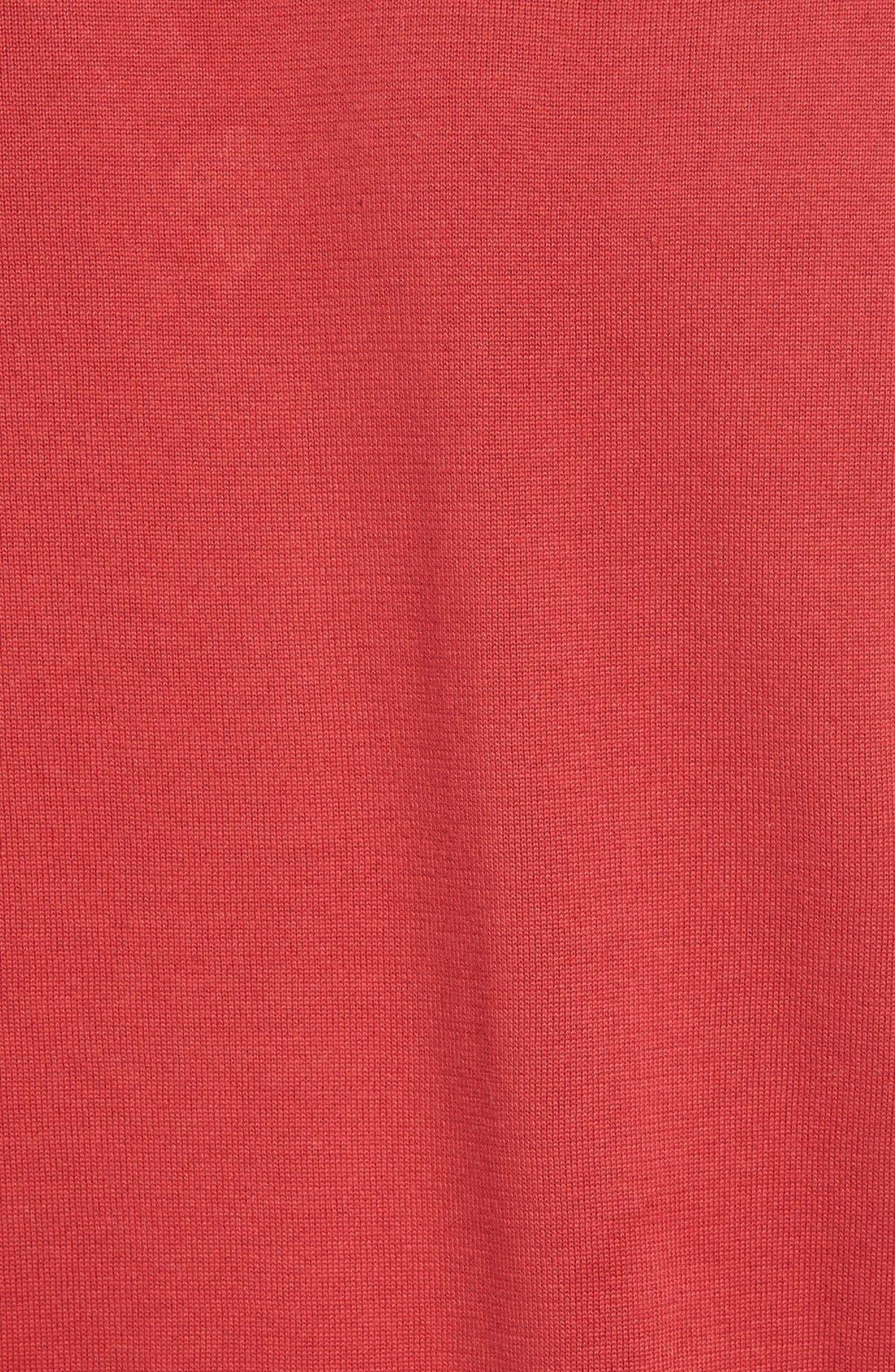 Cotton Jersey V-Neck Sweater,                             Alternate thumbnail 30, color,