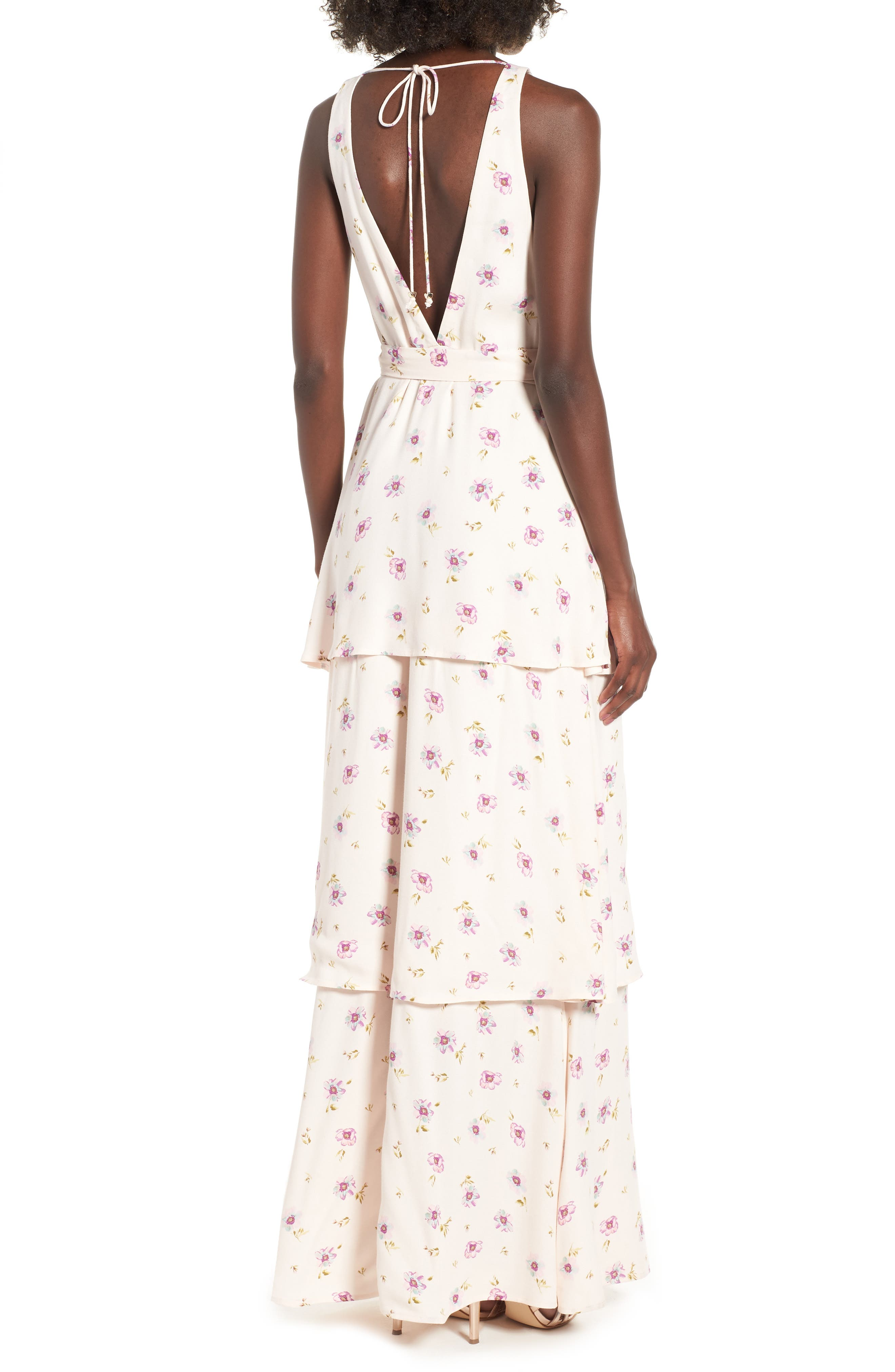 Rosa Wrap Maxi Dress,                             Alternate thumbnail 2, color,                             LILAC FLORAL