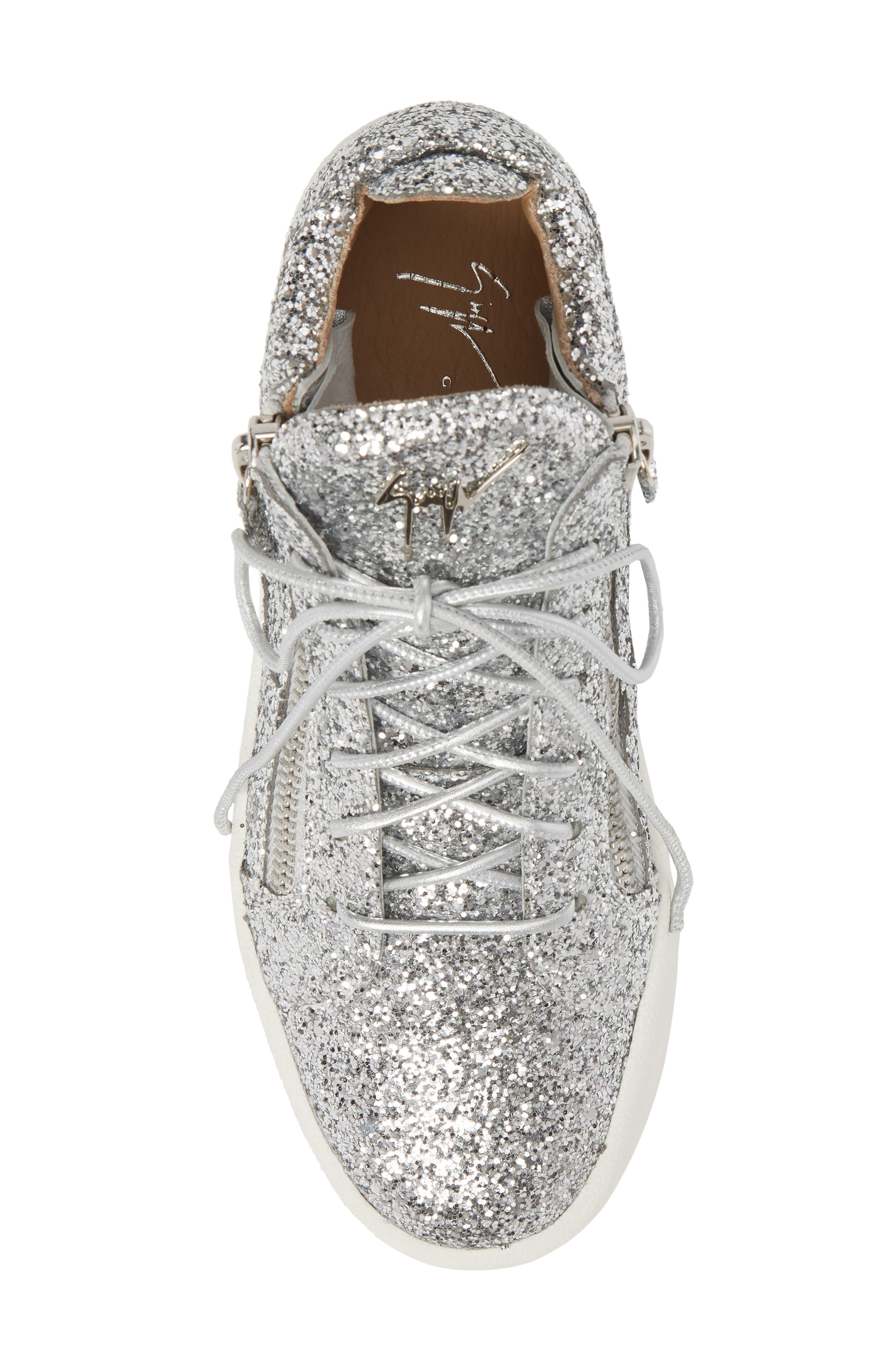 May London High Top Sneaker,                             Alternate thumbnail 5, color,                             SILVER