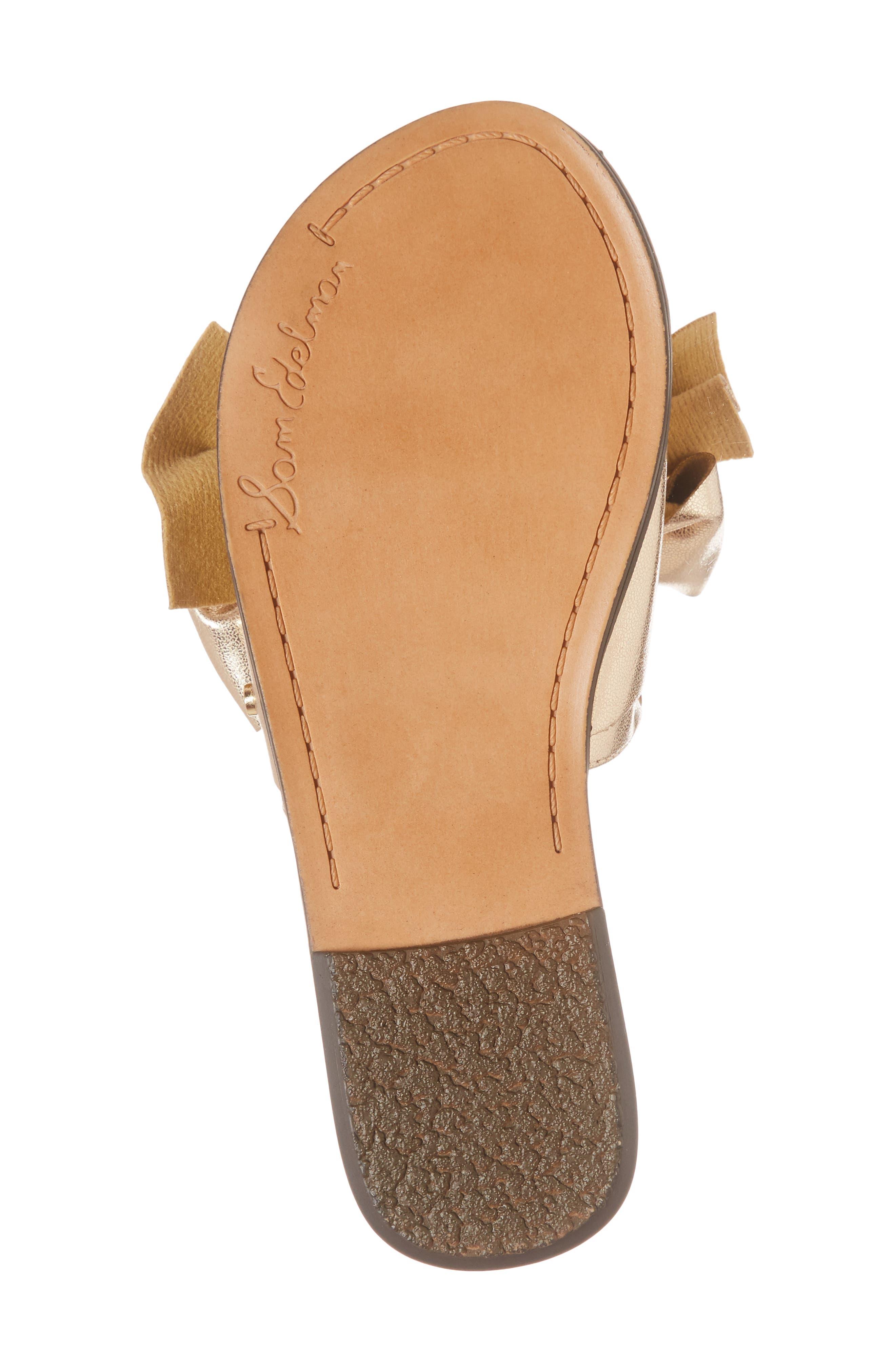 Gigi Bow Faux Leather Sandal,                             Alternate thumbnail 18, color,
