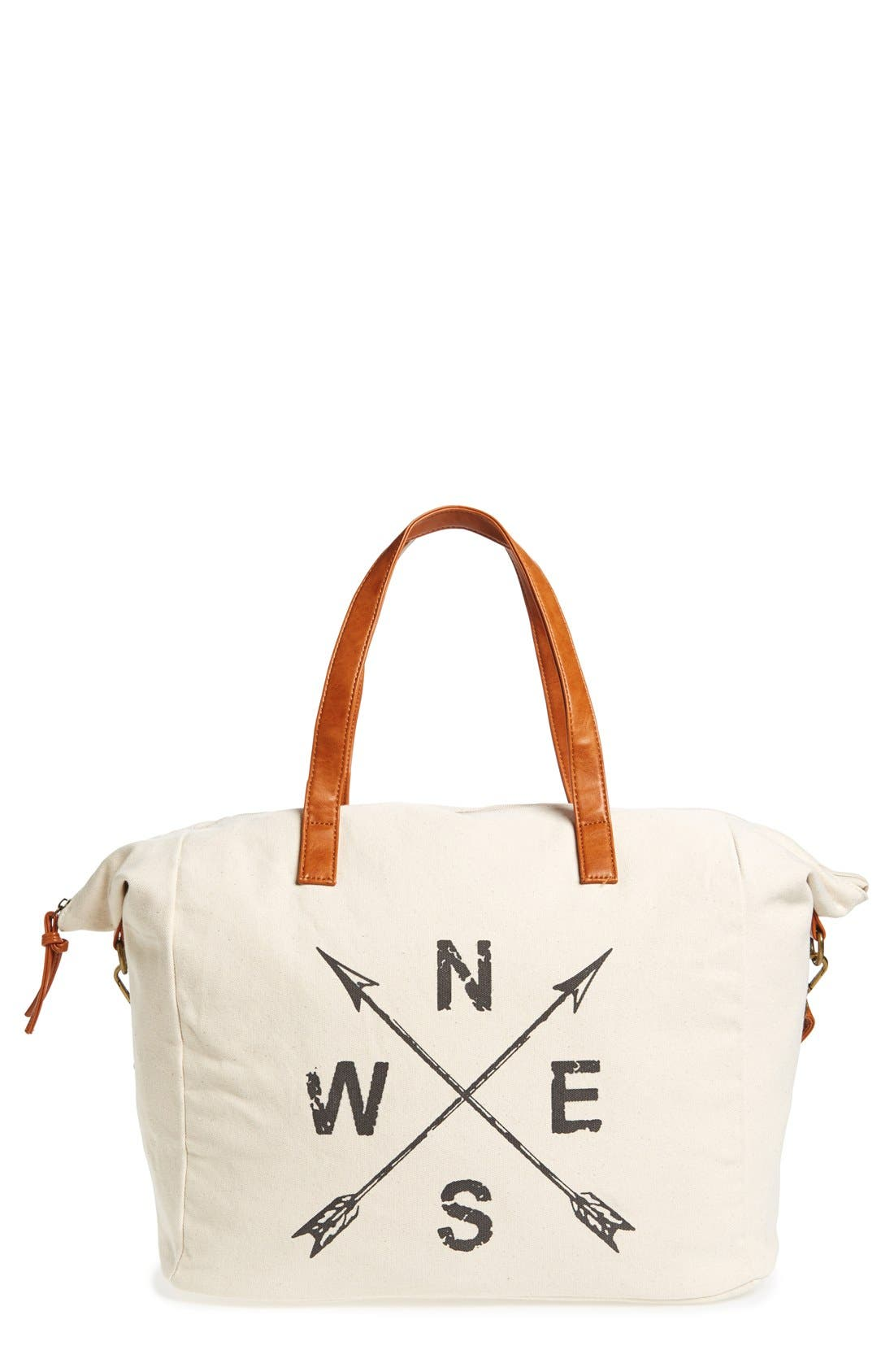 NU-G,                             Slouchy Canvas Overnighter Bag,                             Main thumbnail 1, color,                             200