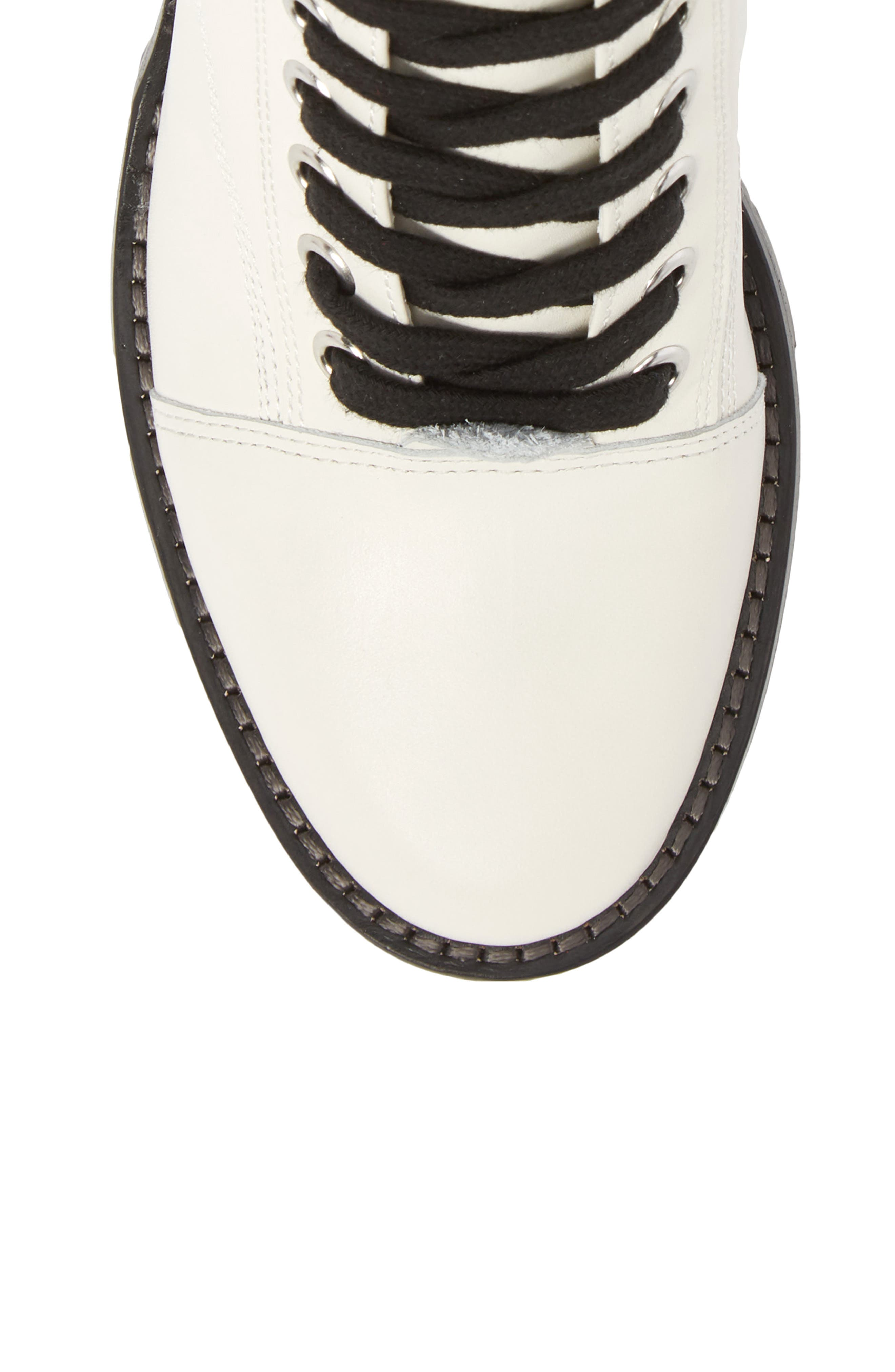 Warid Moto Bootie,                             Alternate thumbnail 5, color,                             IVORY LEATHER