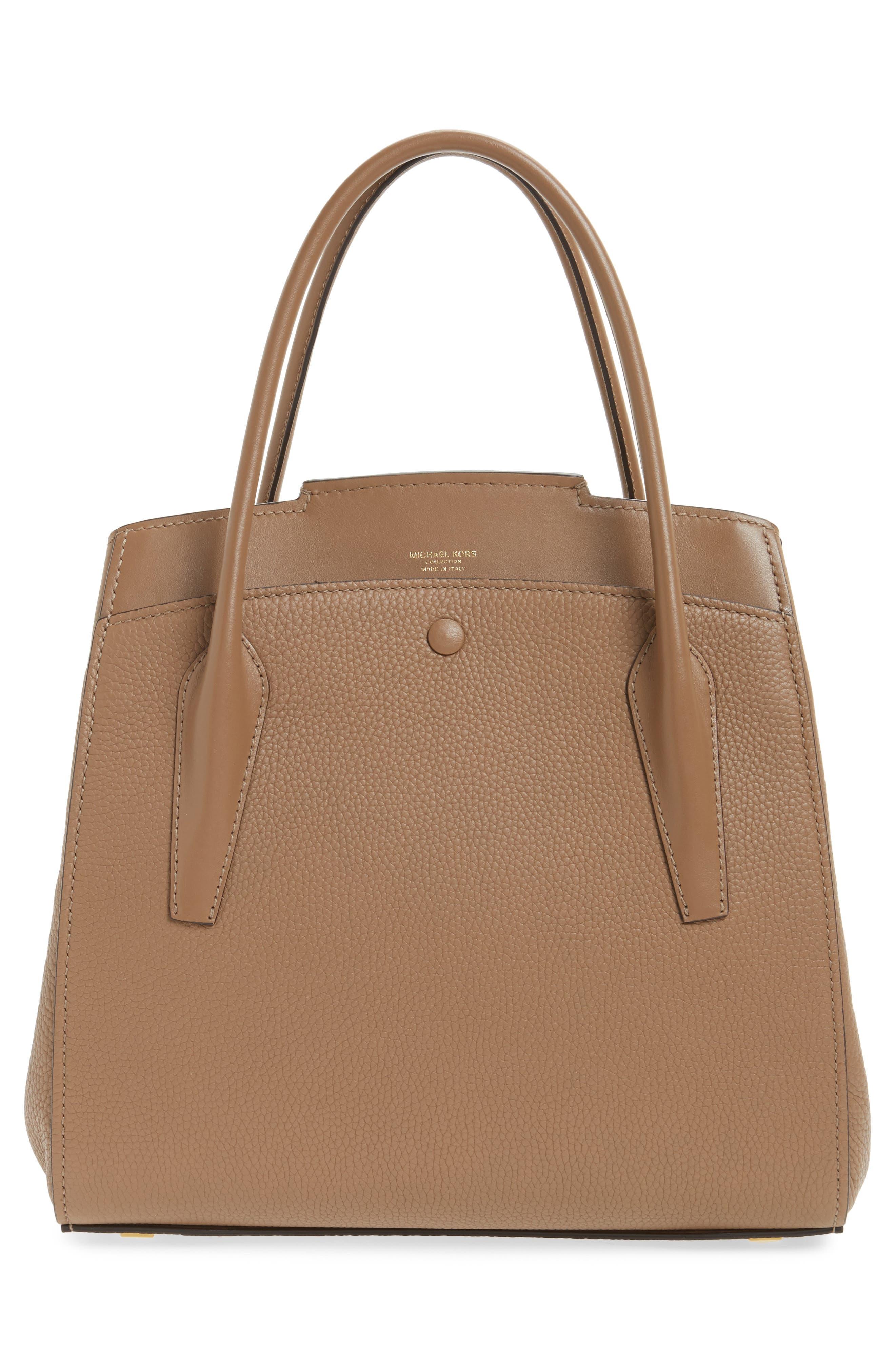 Large Bancroft Leather Top Handle Satchel,                             Alternate thumbnail 8, color,