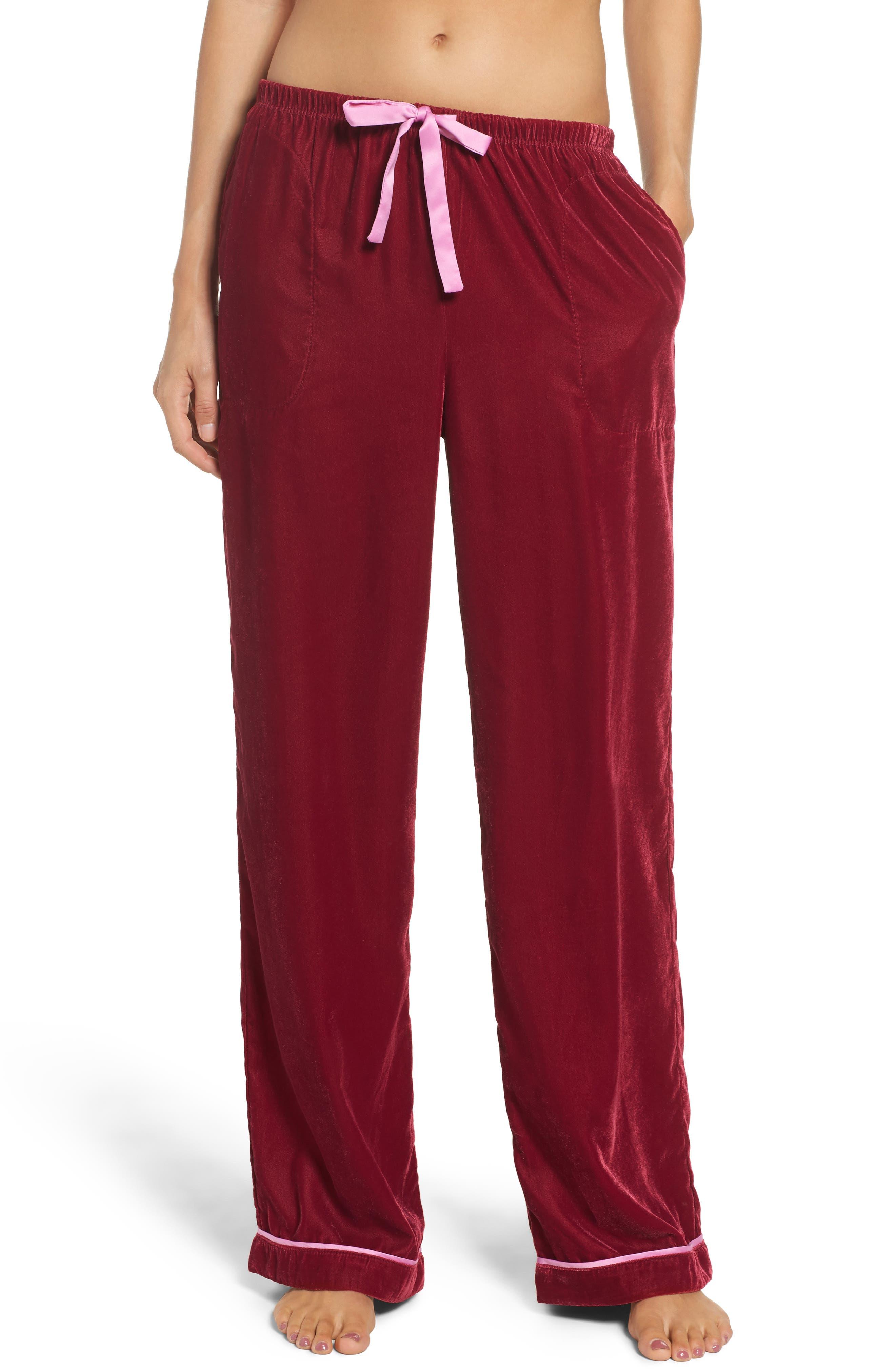 Velvet Pajama Pants,                             Main thumbnail 3, color,