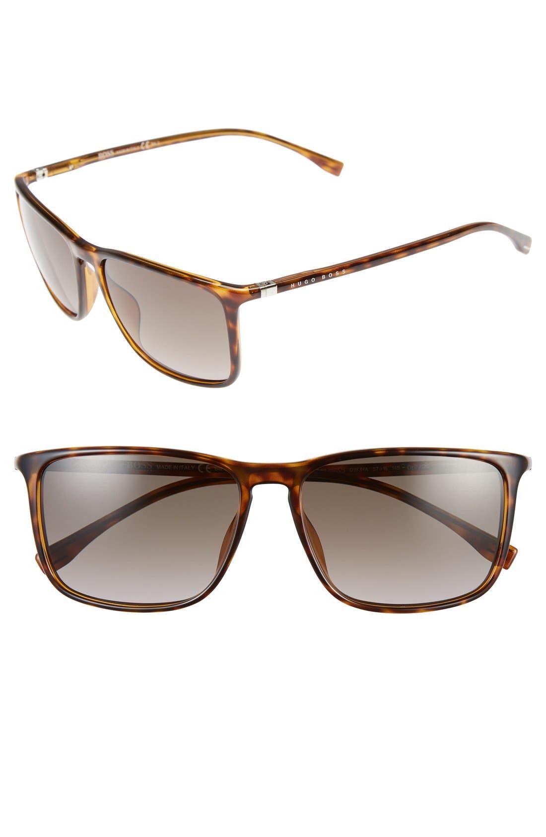 57mm Retro Sunglasses,                         Main,                         color, 210
