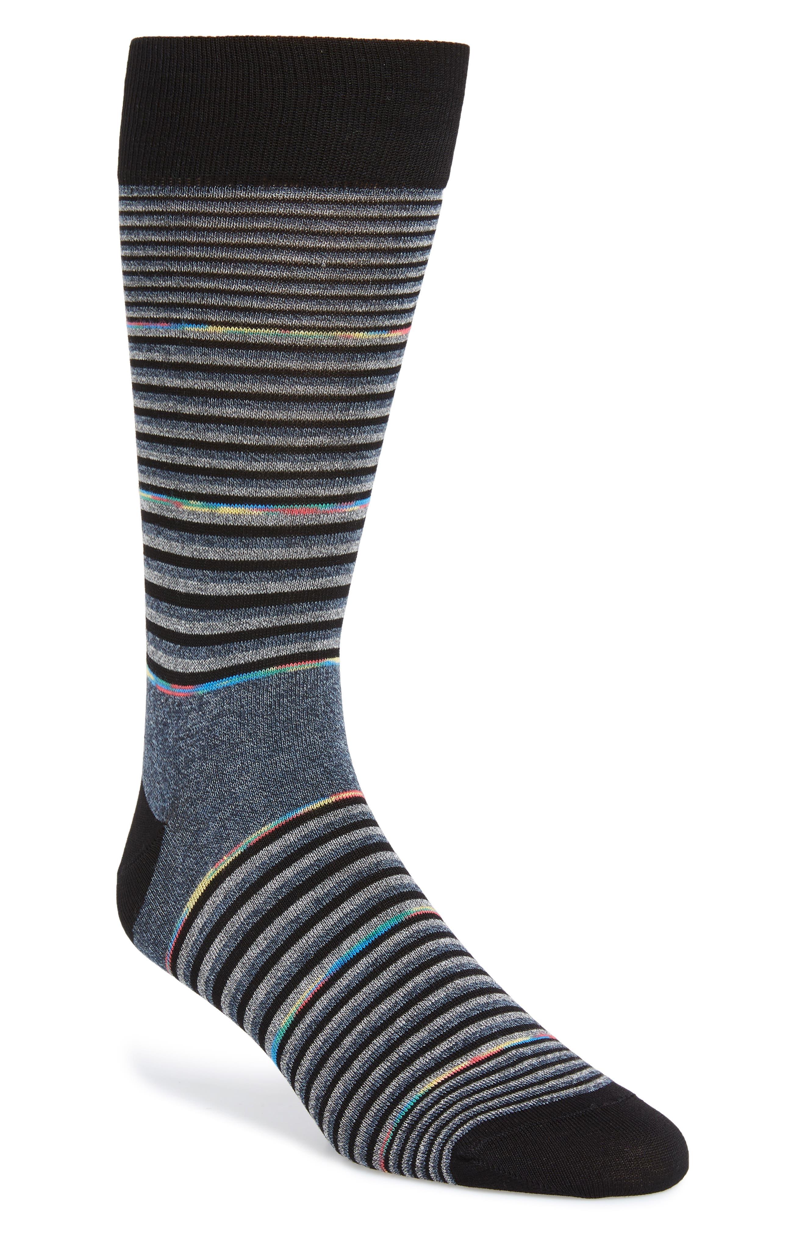 Stripe Socks,                         Main,                         color, CHARCOAL