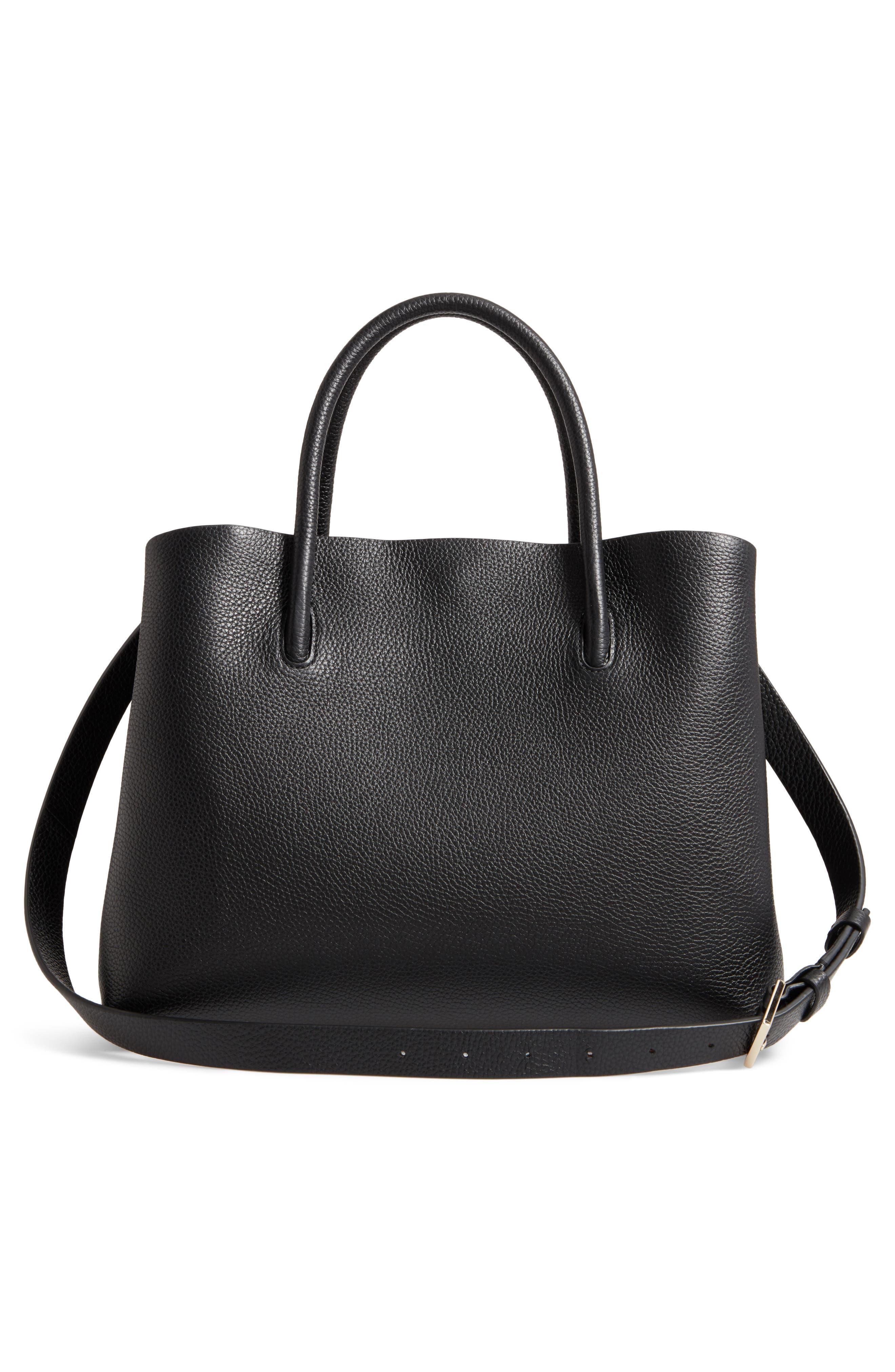 large madison knollwood drive - celestina leather satchel,                             Alternate thumbnail 3, color,                             001