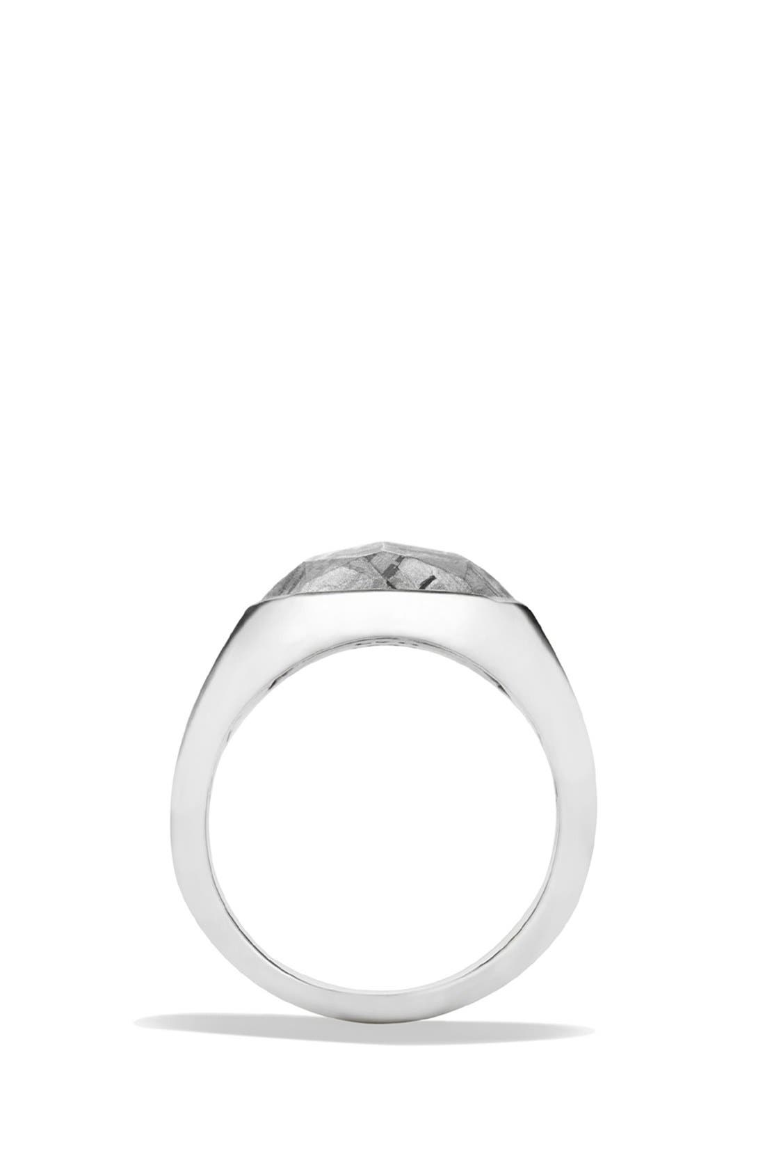 'Meteorite' Signet Ring,                             Alternate thumbnail 3, color,                             METEORITE