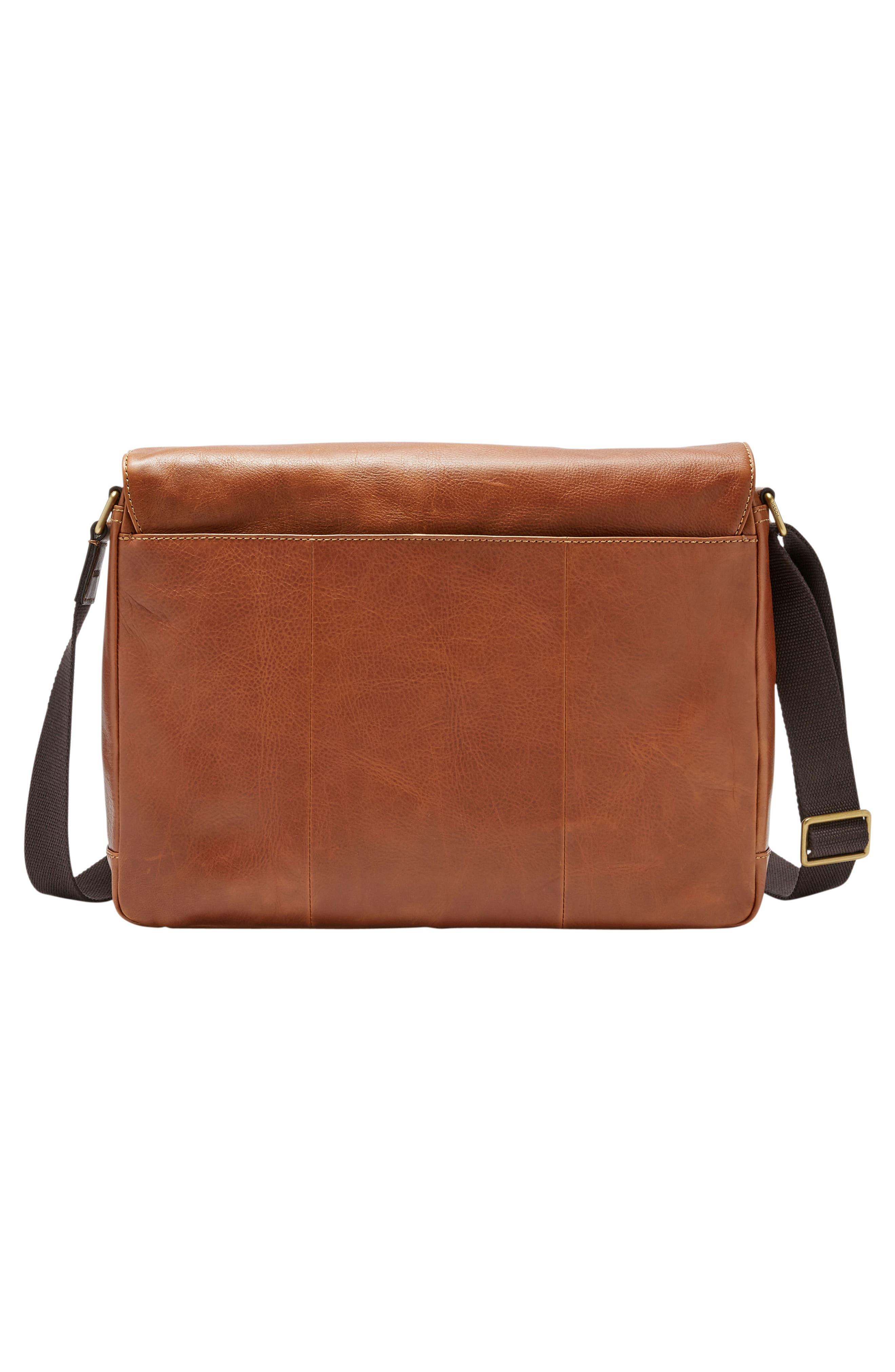 'Defender' Leather Messenger Bag,                             Alternate thumbnail 2, color,                             202