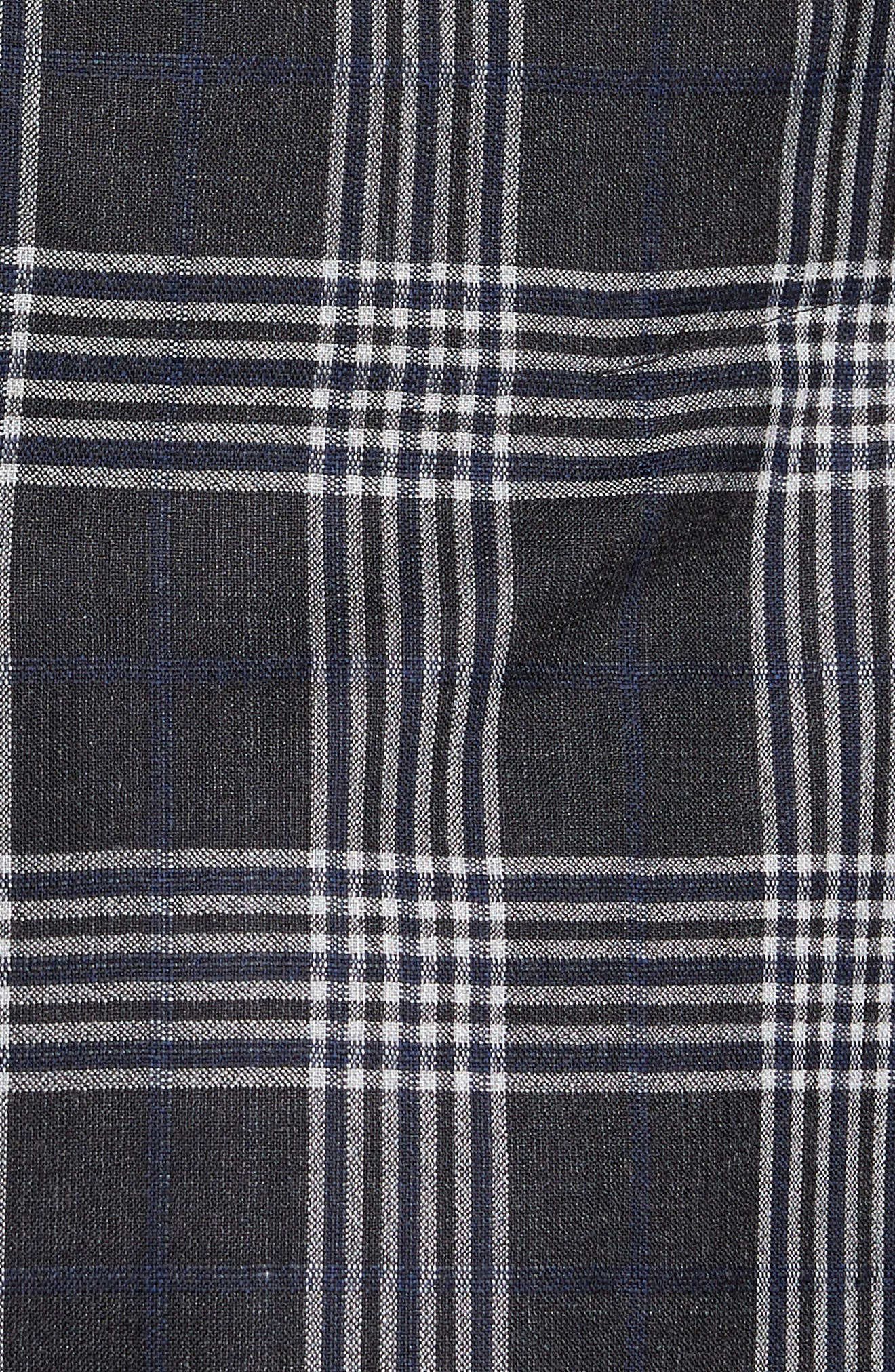 Modern Fit Plaid Wool & Silk Sport Coat,                             Alternate thumbnail 6, color,                             020