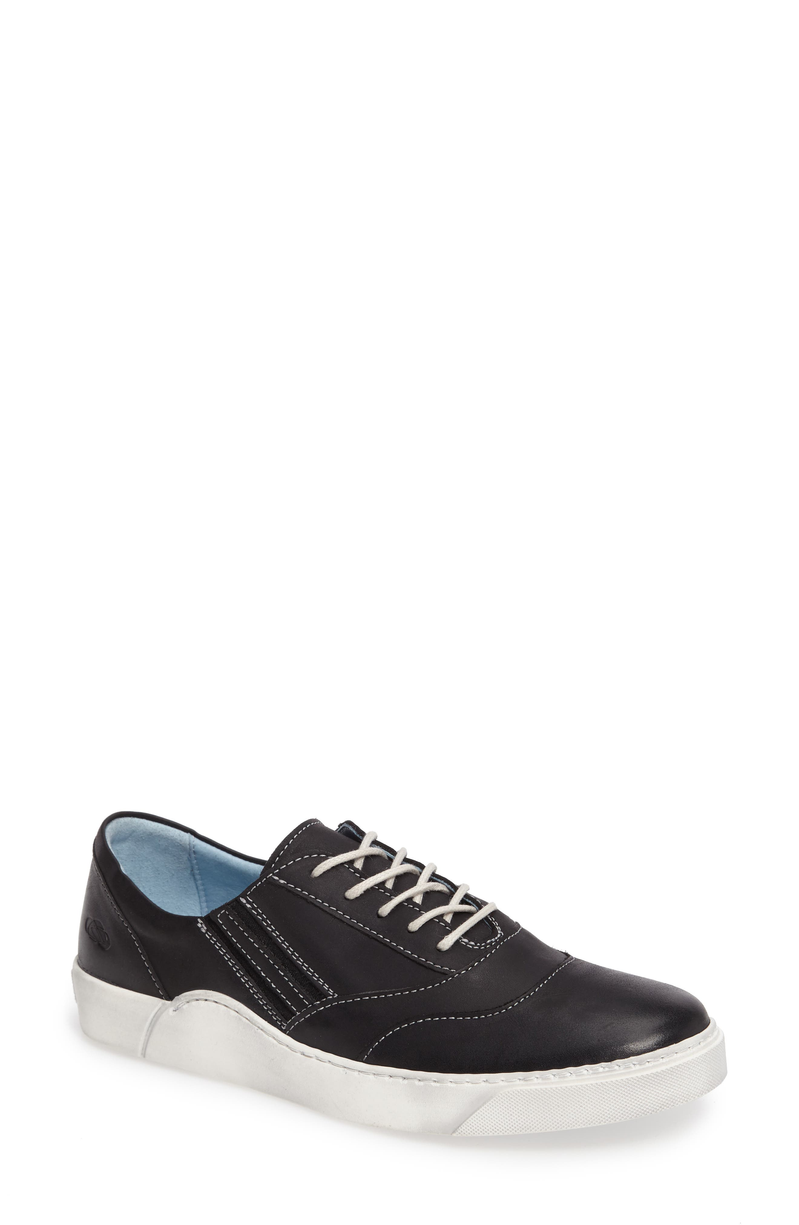 Irina Sneaker,                             Main thumbnail 1, color,                             BLACK LEATHER